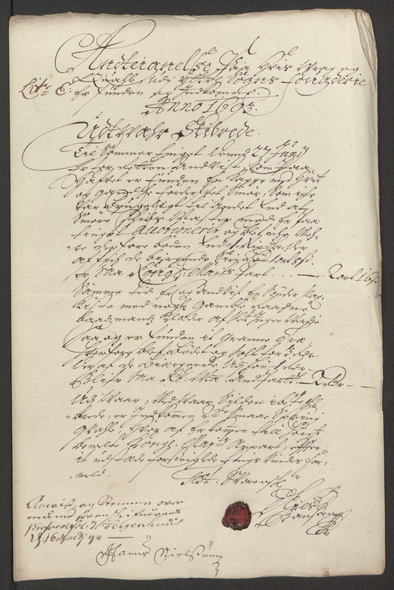 RA, Rentekammeret inntil 1814, Reviderte regnskaper, Fogderegnskap, R52/L3307: Fogderegnskap Sogn, 1693-1694, s. 226