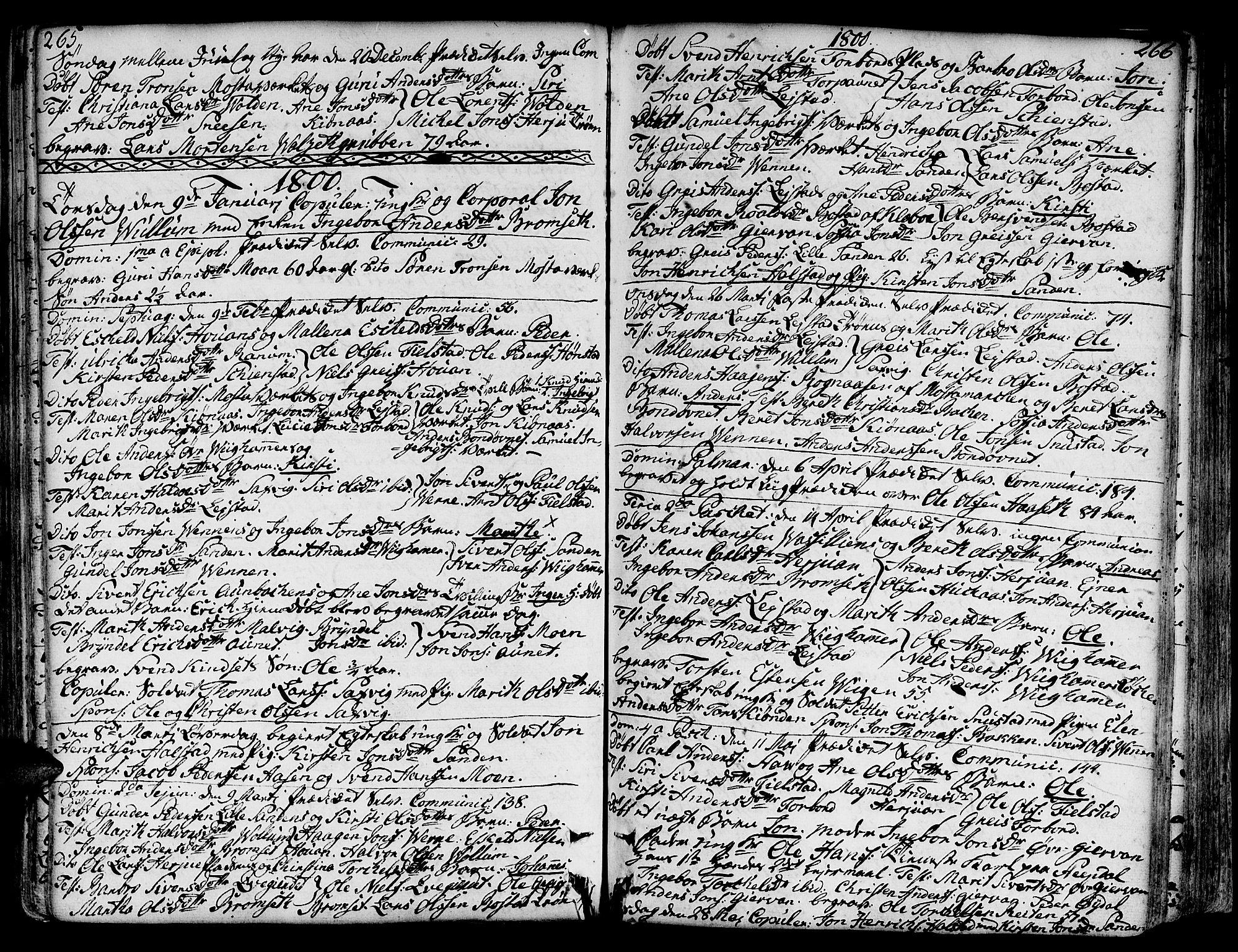 SAT, Ministerialprotokoller, klokkerbøker og fødselsregistre - Sør-Trøndelag, 606/L0281: Ministerialbok nr. 606A02 /2, 1781-1817, s. 265-266