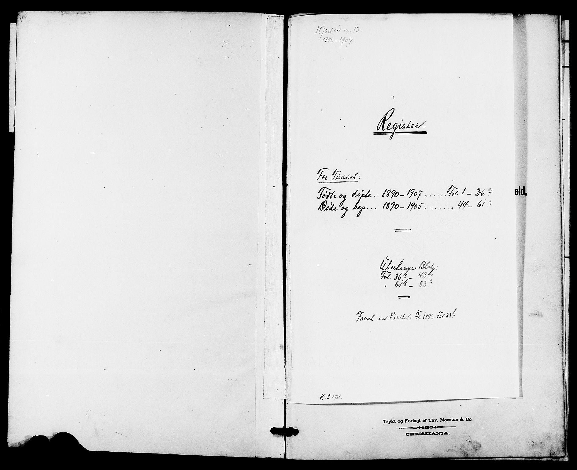 SAKO, Hjartdal kirkebøker, G/Gc/L0003: Klokkerbok nr. III 3, 1890-1907