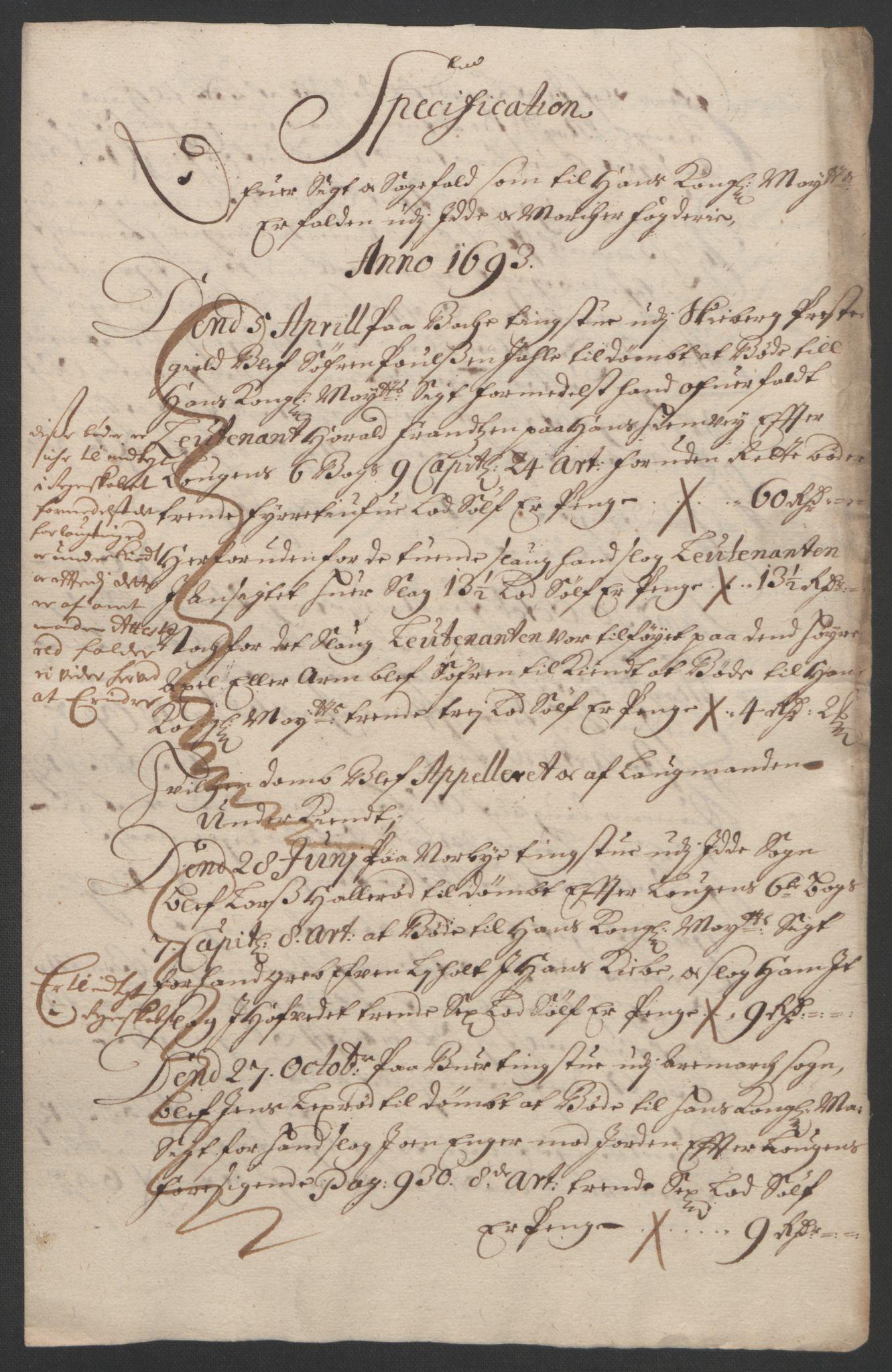 RA, Rentekammeret inntil 1814, Reviderte regnskaper, Fogderegnskap, R01/L0011: Fogderegnskap Idd og Marker, 1692-1693, s. 254