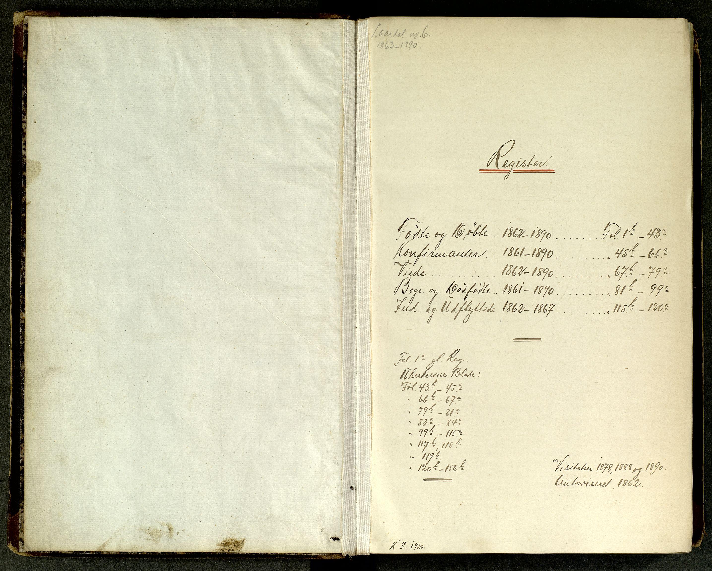 SAKO, Lårdal kirkebøker, G/Ga/L0002: Klokkerbok nr. I 2, 1861-1890