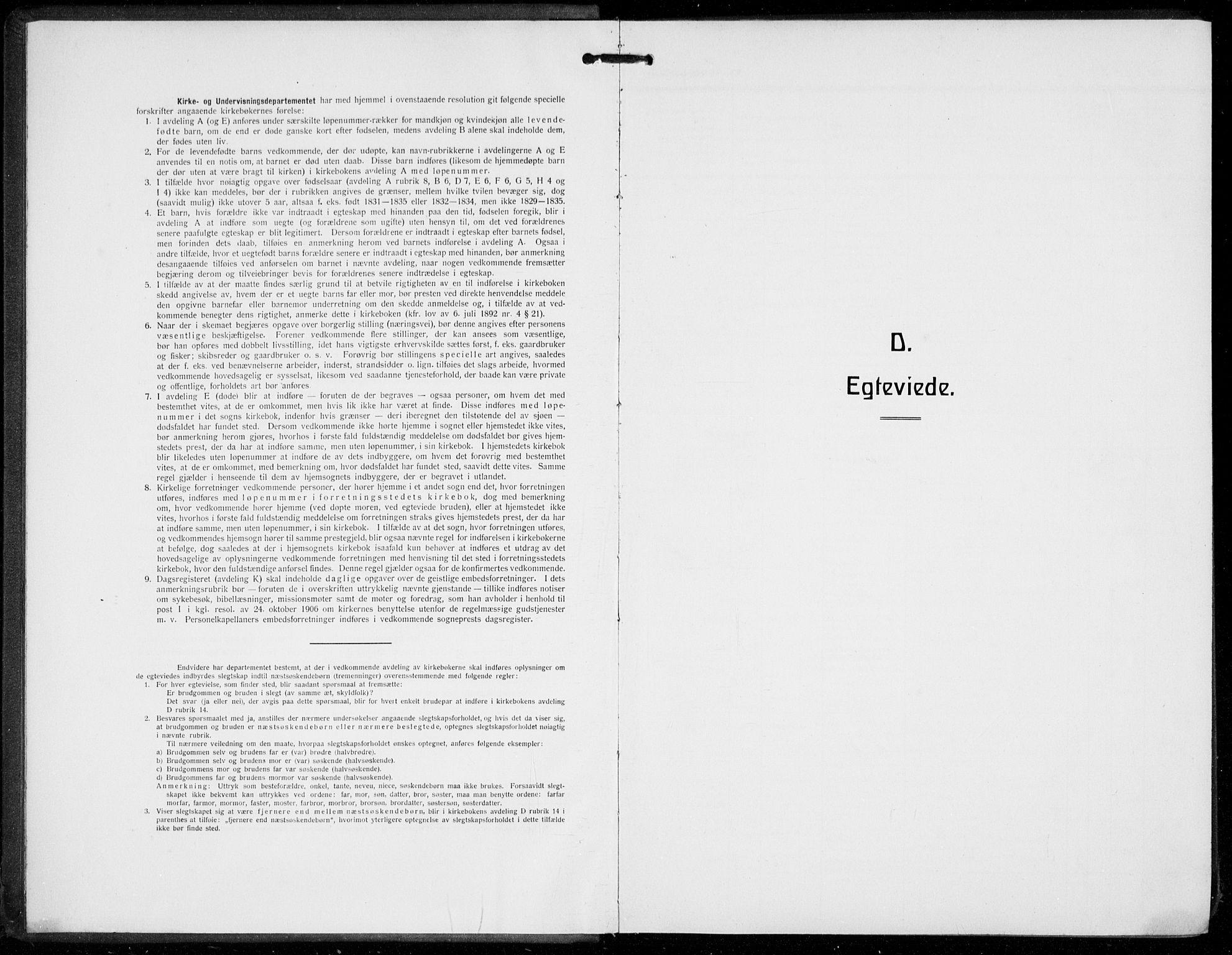 SAB, Domkirken Sokneprestembete, H/Hab/L0034: Klokkerbok nr. D 6, 1924-1941