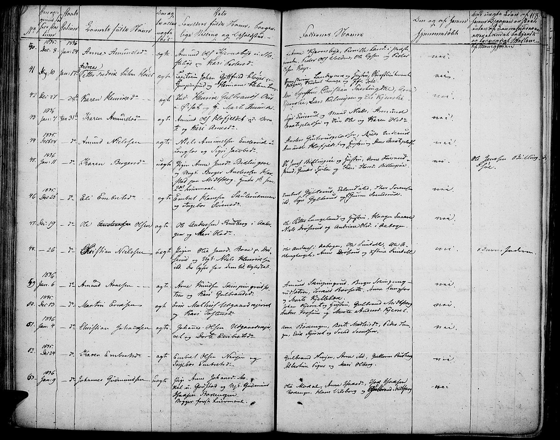 SAH, Vinger prestekontor, Ministerialbok nr. 7, 1826-1839, s. 117