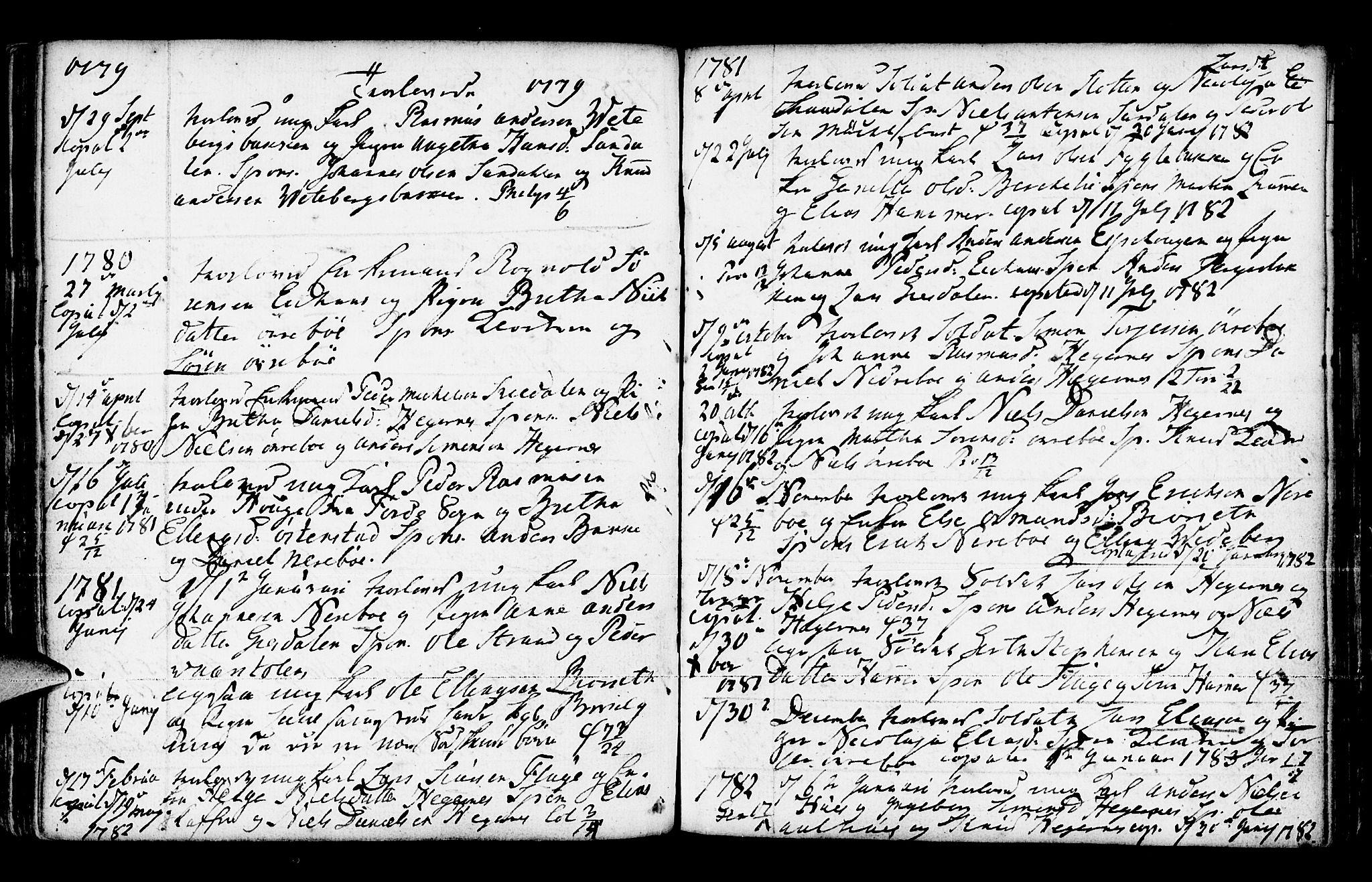 SAB, Jølster Sokneprestembete, Ministerialbok nr. A 3, 1748-1789, s. 185
