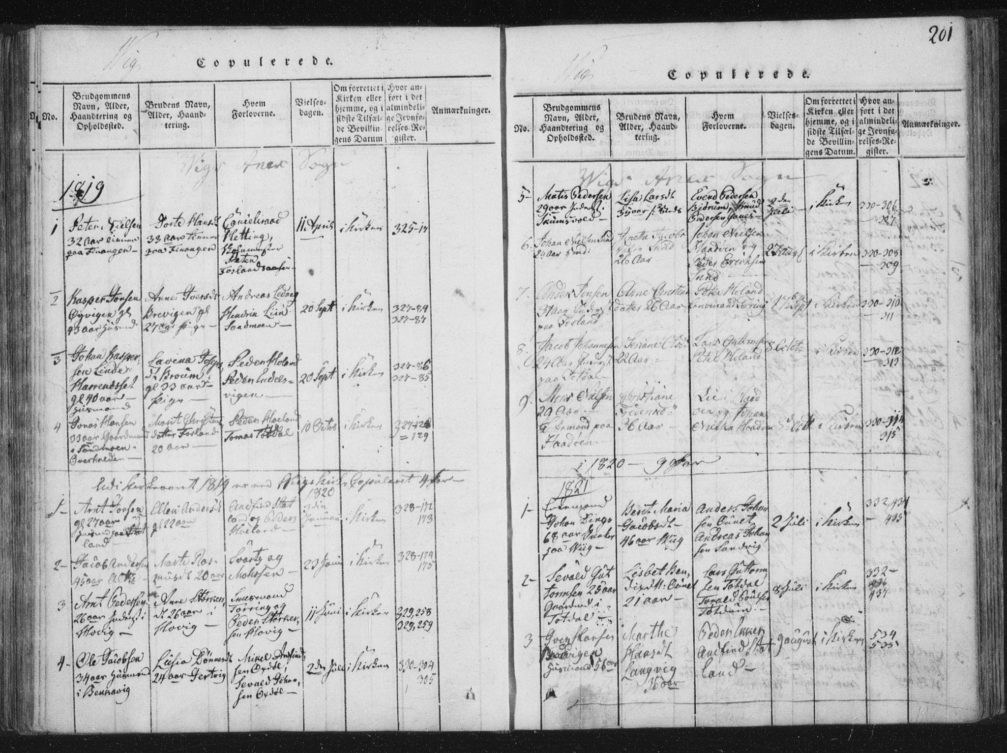 SAT, Ministerialprotokoller, klokkerbøker og fødselsregistre - Nord-Trøndelag, 773/L0609: Ministerialbok nr. 773A03 /2, 1815-1830, s. 201