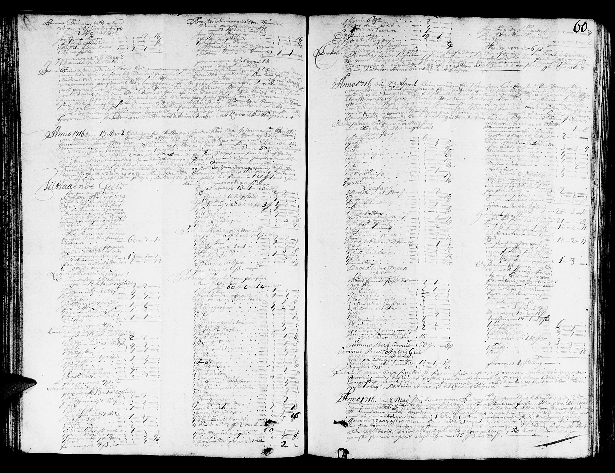 SAST, Jæren og Dalane sorenskriveri, 5/50BA/L0005: SKIFTEPROTOKOLL <KORTREG>, 1714-1722, s. 59b-60a