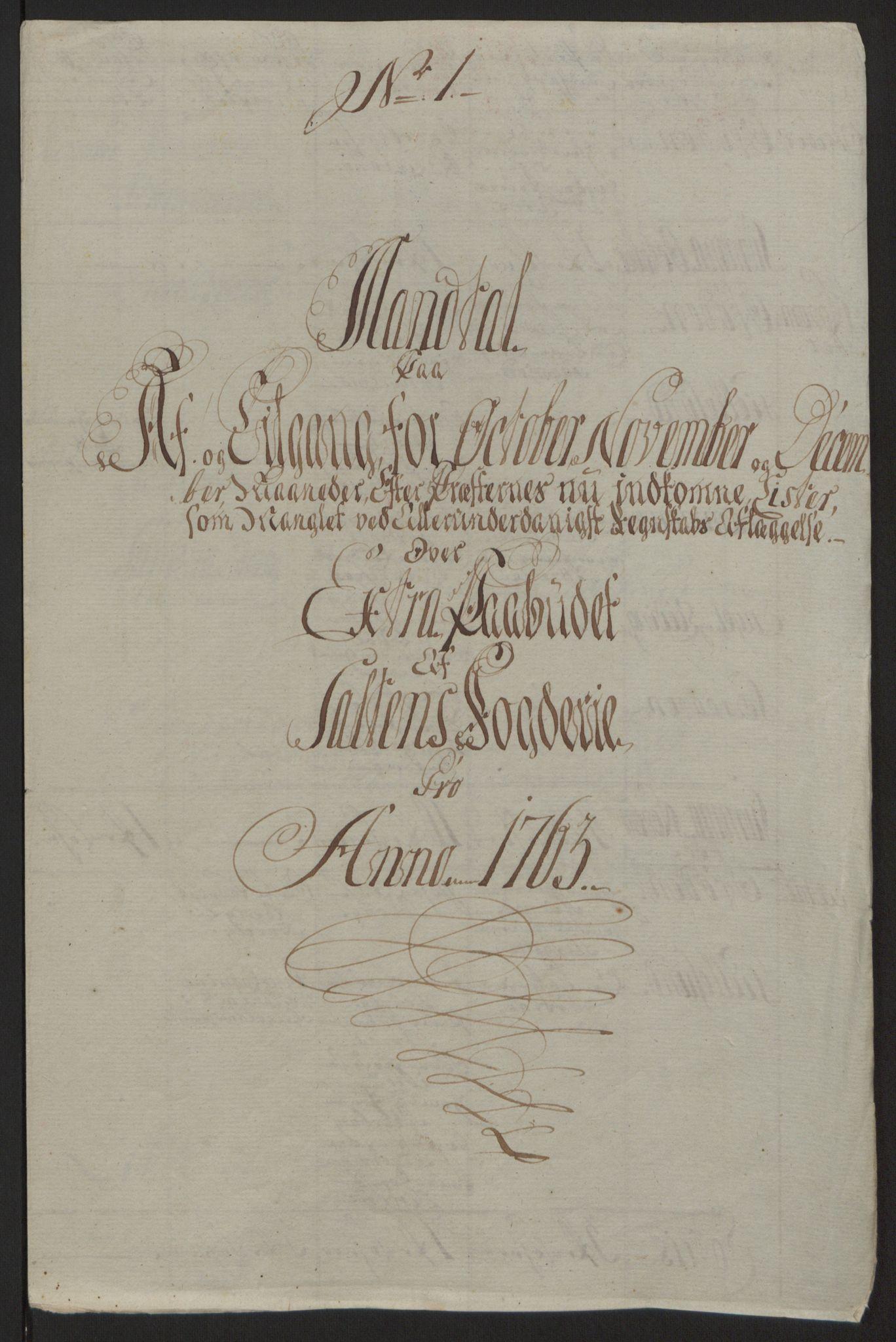 RA, Rentekammeret inntil 1814, Reviderte regnskaper, Fogderegnskap, R66/L4670: Ekstraskatten Salten, 1762-1764, s. 184