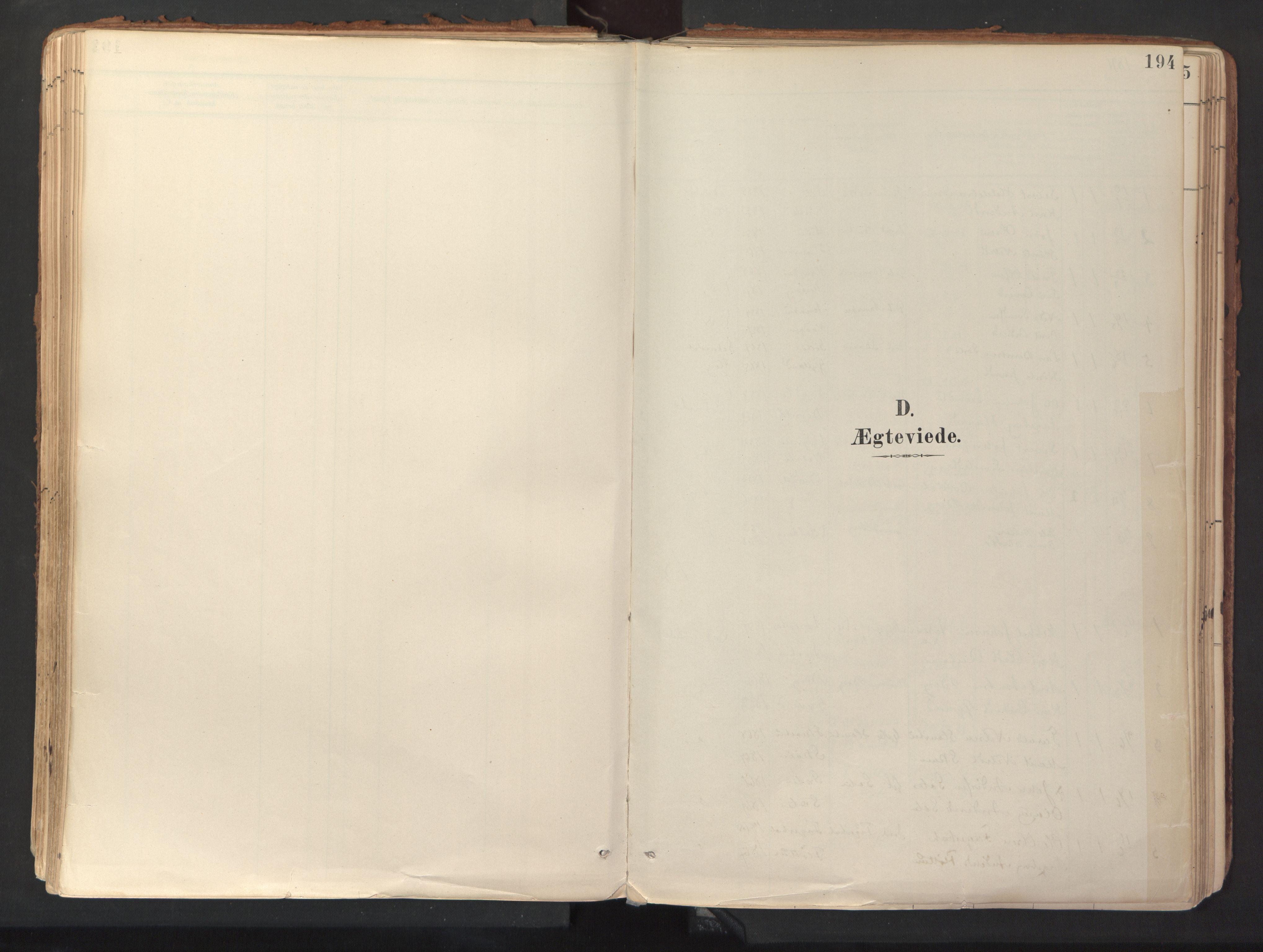 SAT, Ministerialprotokoller, klokkerbøker og fødselsregistre - Sør-Trøndelag, 689/L1041: Ministerialbok nr. 689A06, 1891-1923, s. 194
