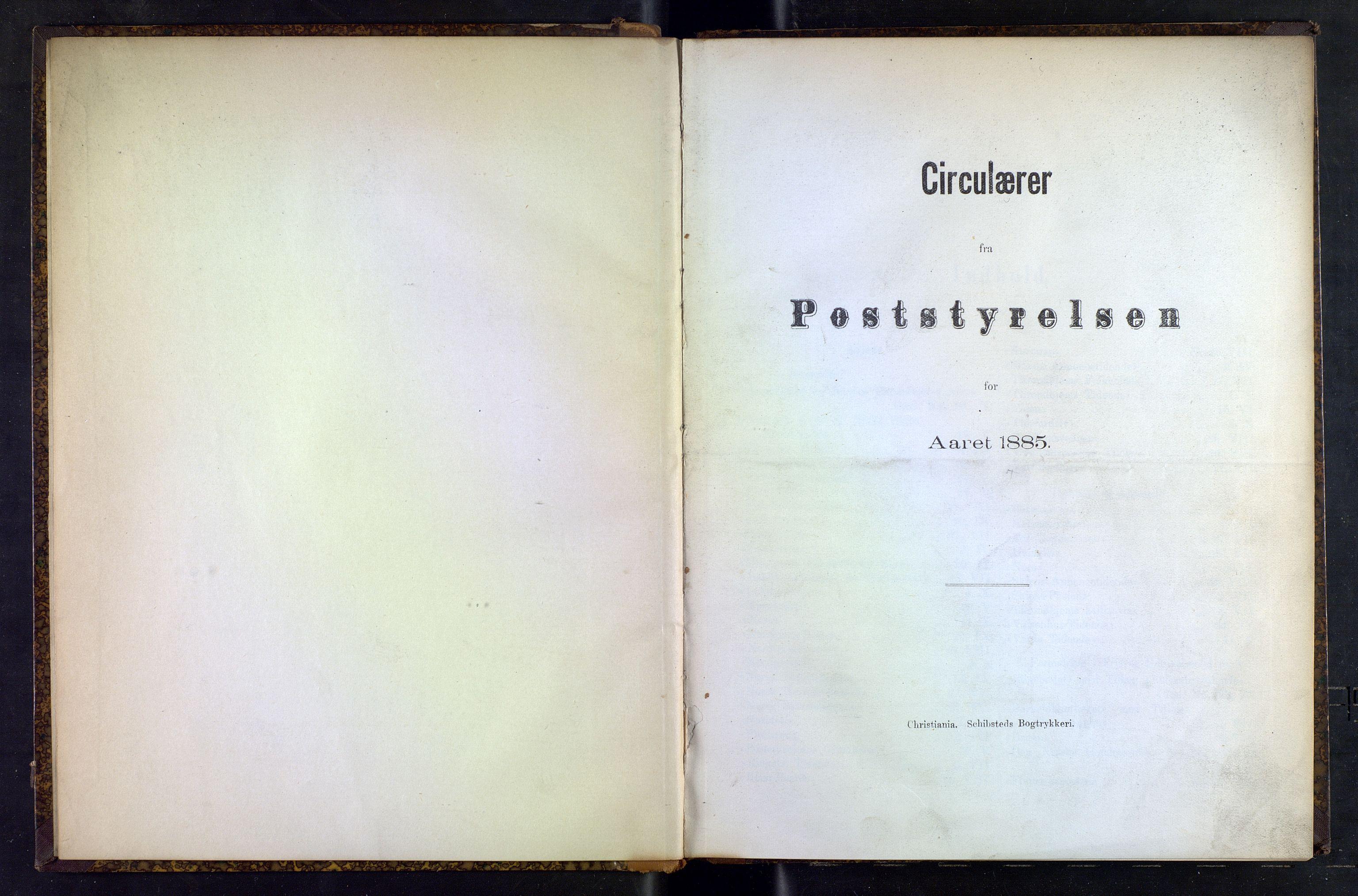 NOPO, Norges Postmuseums bibliotek, -/-: Sirkulærer fra Poststyrelsen, 1885