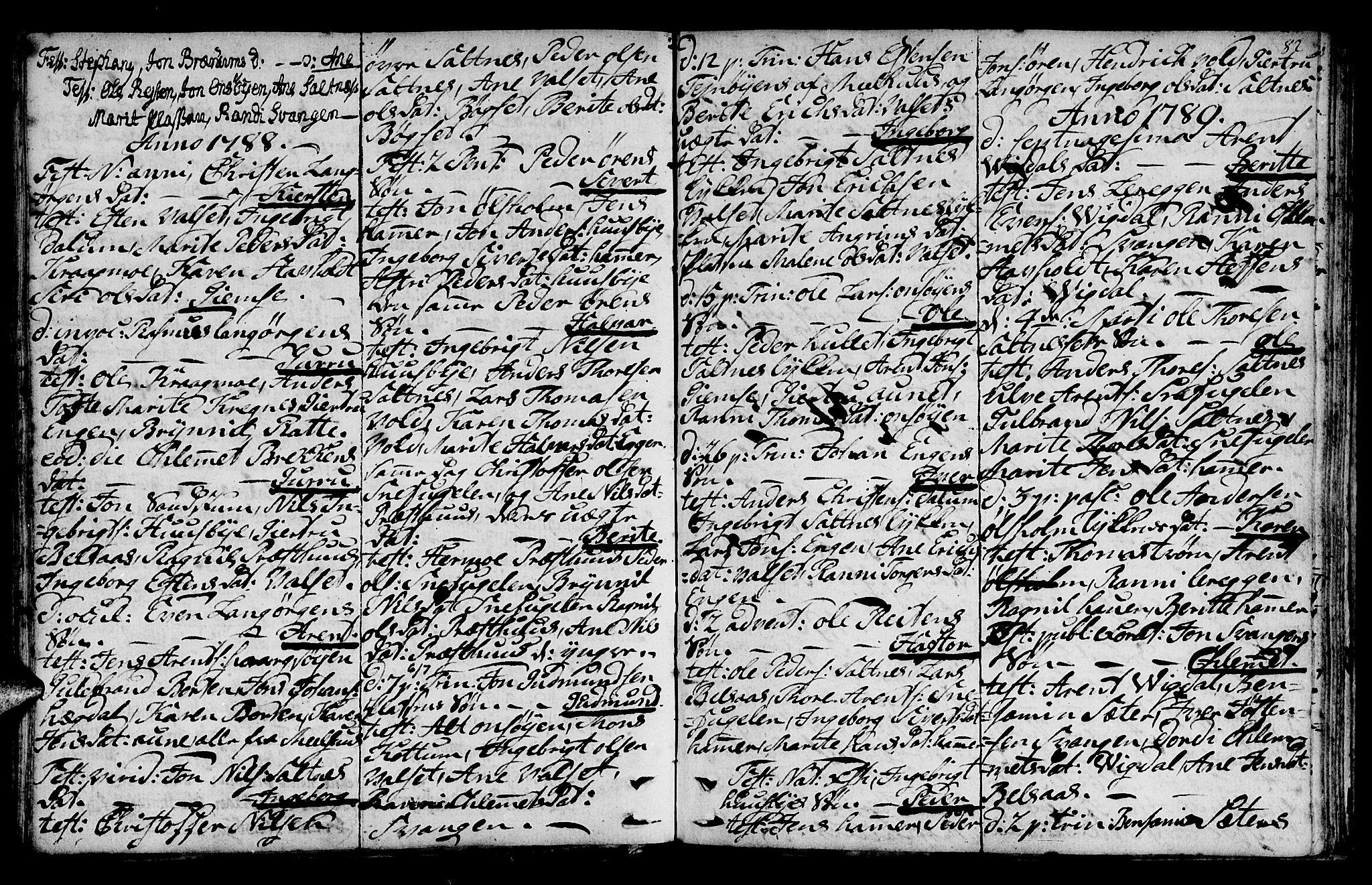 SAT, Ministerialprotokoller, klokkerbøker og fødselsregistre - Sør-Trøndelag, 666/L0784: Ministerialbok nr. 666A02, 1754-1802, s. 82