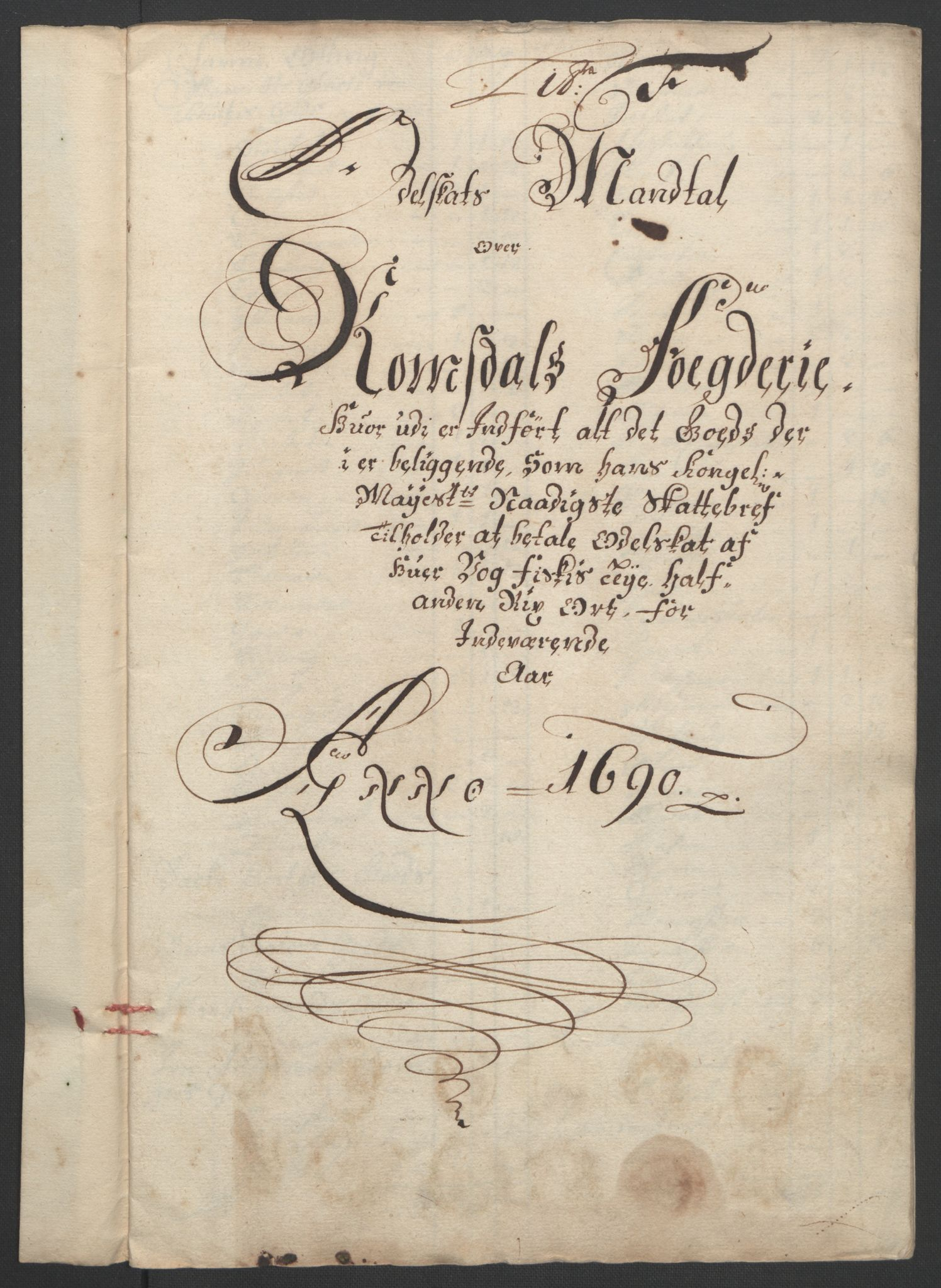 RA, Rentekammeret inntil 1814, Reviderte regnskaper, Fogderegnskap, R55/L3649: Fogderegnskap Romsdal, 1690-1691, s. 70