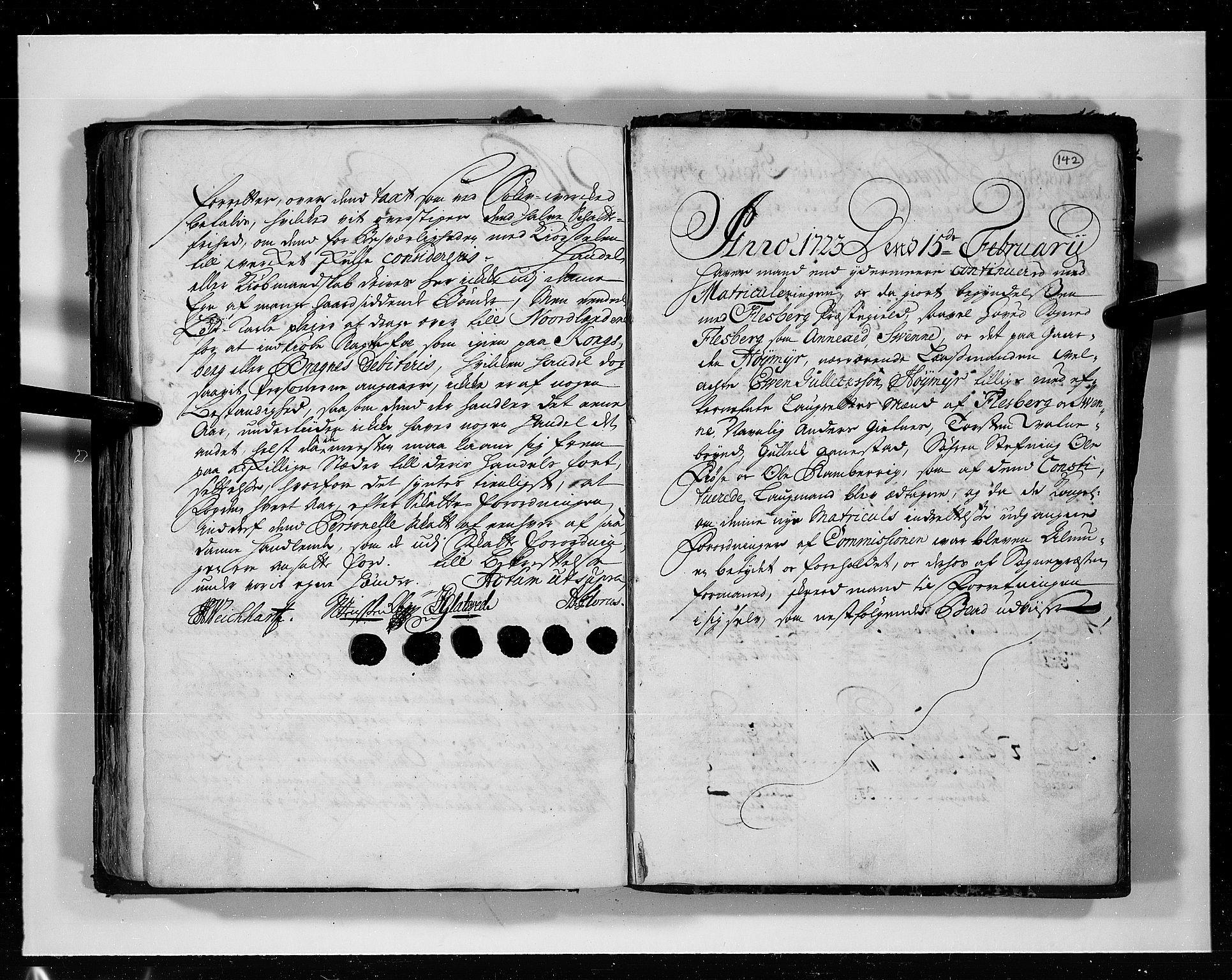 RA, Rentekammeret inntil 1814, Realistisk ordnet avdeling, N/Nb/Nbf/L0113: Numedal og Sandsvær eksaminasjonsprotokoll, 1723, s. 141b-142a