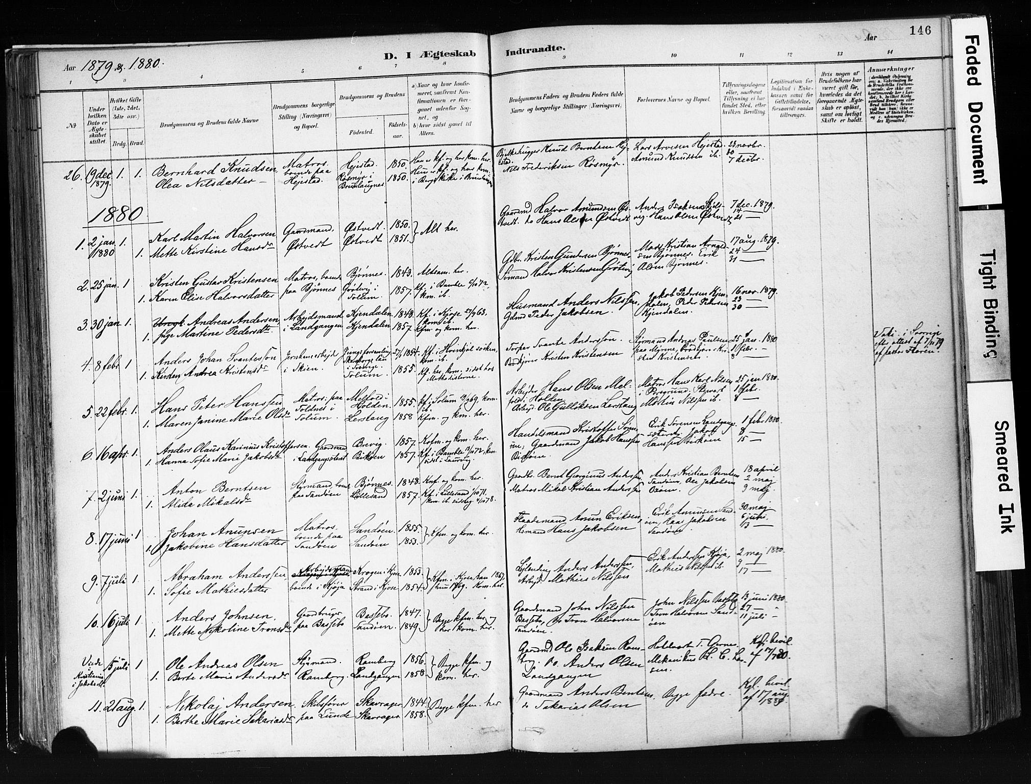 SAKO, Eidanger kirkebøker, F/Fa/L0012: Ministerialbok nr. 12, 1879-1900, s. 146