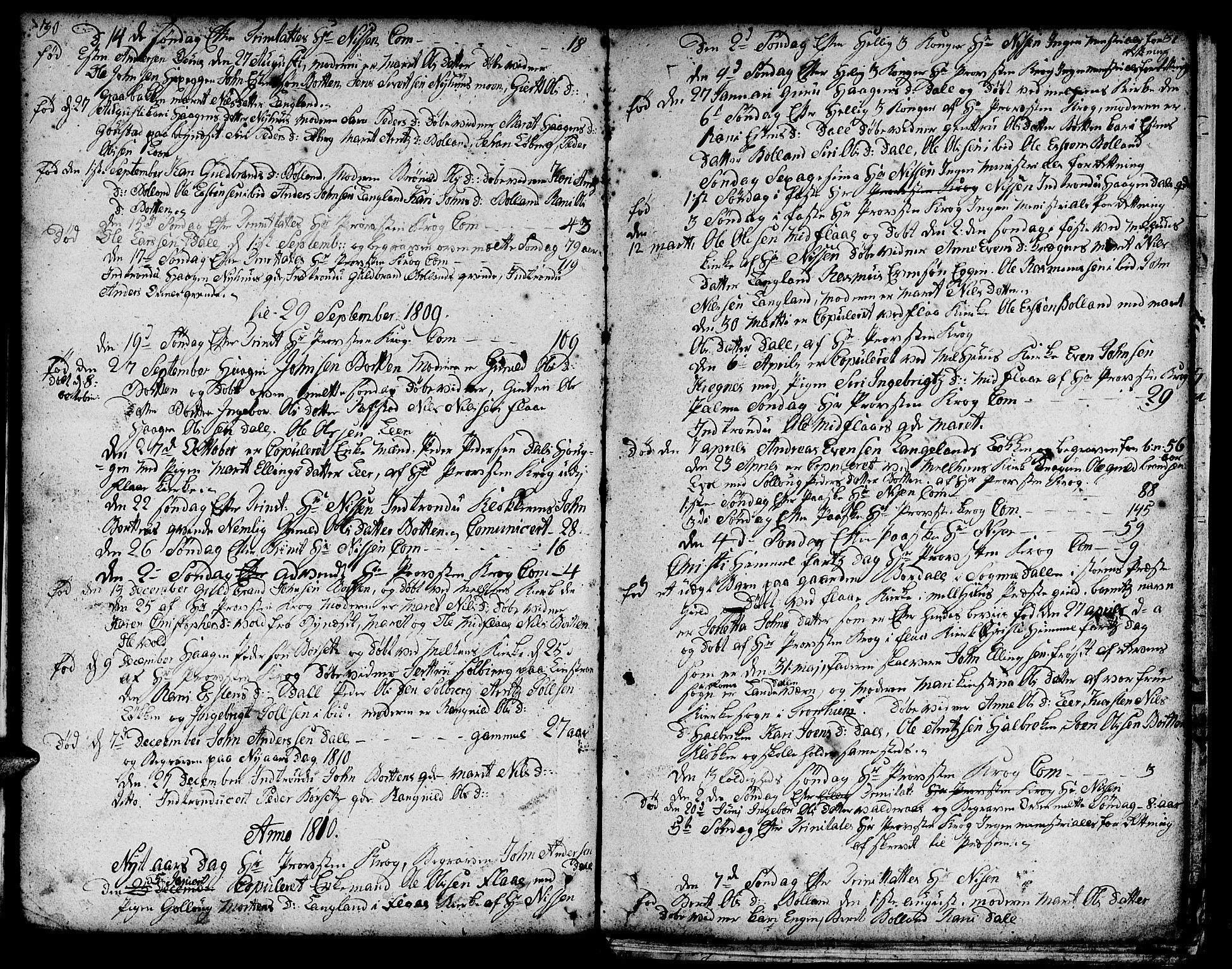 SAT, Ministerialprotokoller, klokkerbøker og fødselsregistre - Sør-Trøndelag, 693/L1120: Klokkerbok nr. 693C01, 1799-1816, s. 30-31