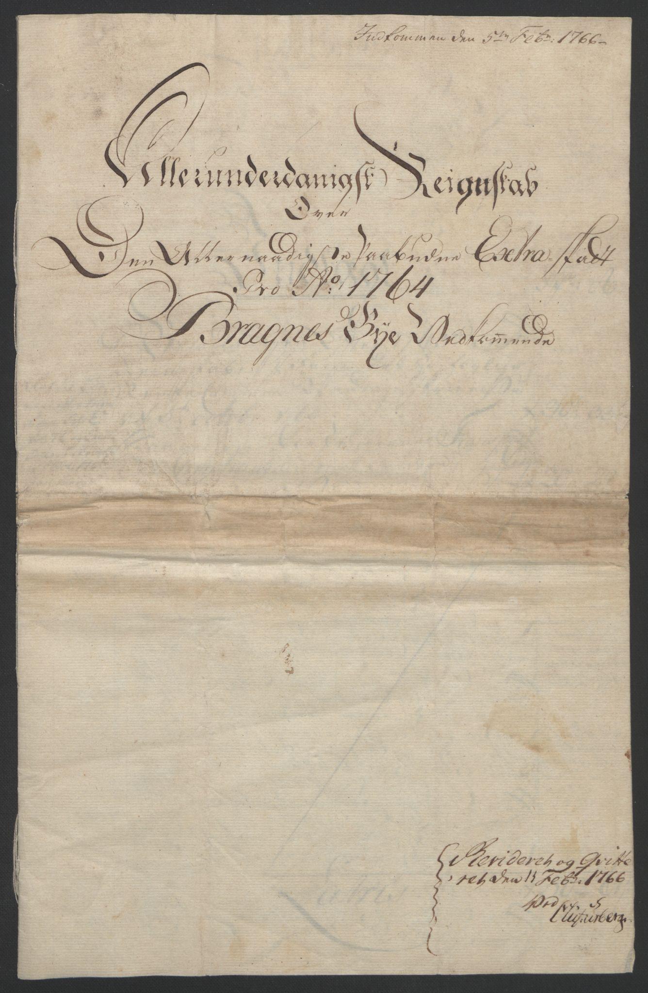 RA, Rentekammeret inntil 1814, Reviderte regnskaper, Byregnskaper, R/Rf/L0119: [F2] Kontribusjonsregnskap, 1762-1767, s. 150