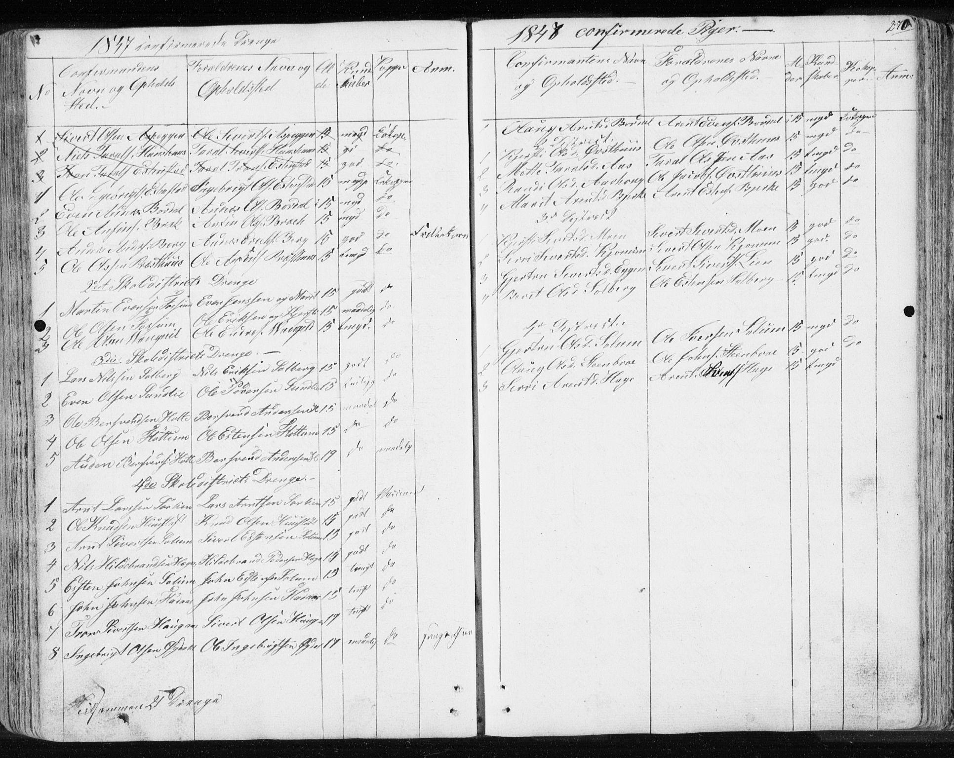 SAT, Ministerialprotokoller, klokkerbøker og fødselsregistre - Sør-Trøndelag, 689/L1043: Klokkerbok nr. 689C02, 1816-1892, s. 270