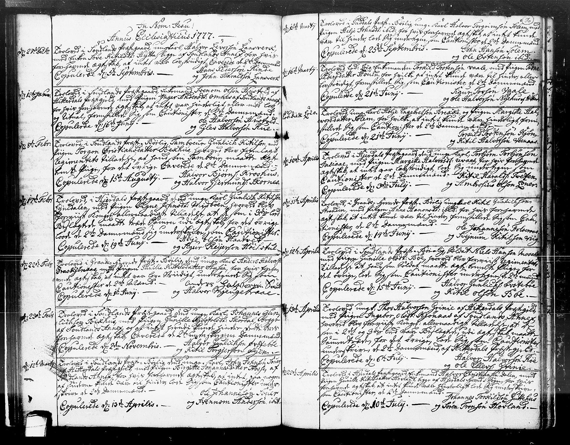 SAKO, Hjartdal kirkebøker, F/Fa/L0004: Ministerialbok nr. I 4, 1727-1795, s. 56