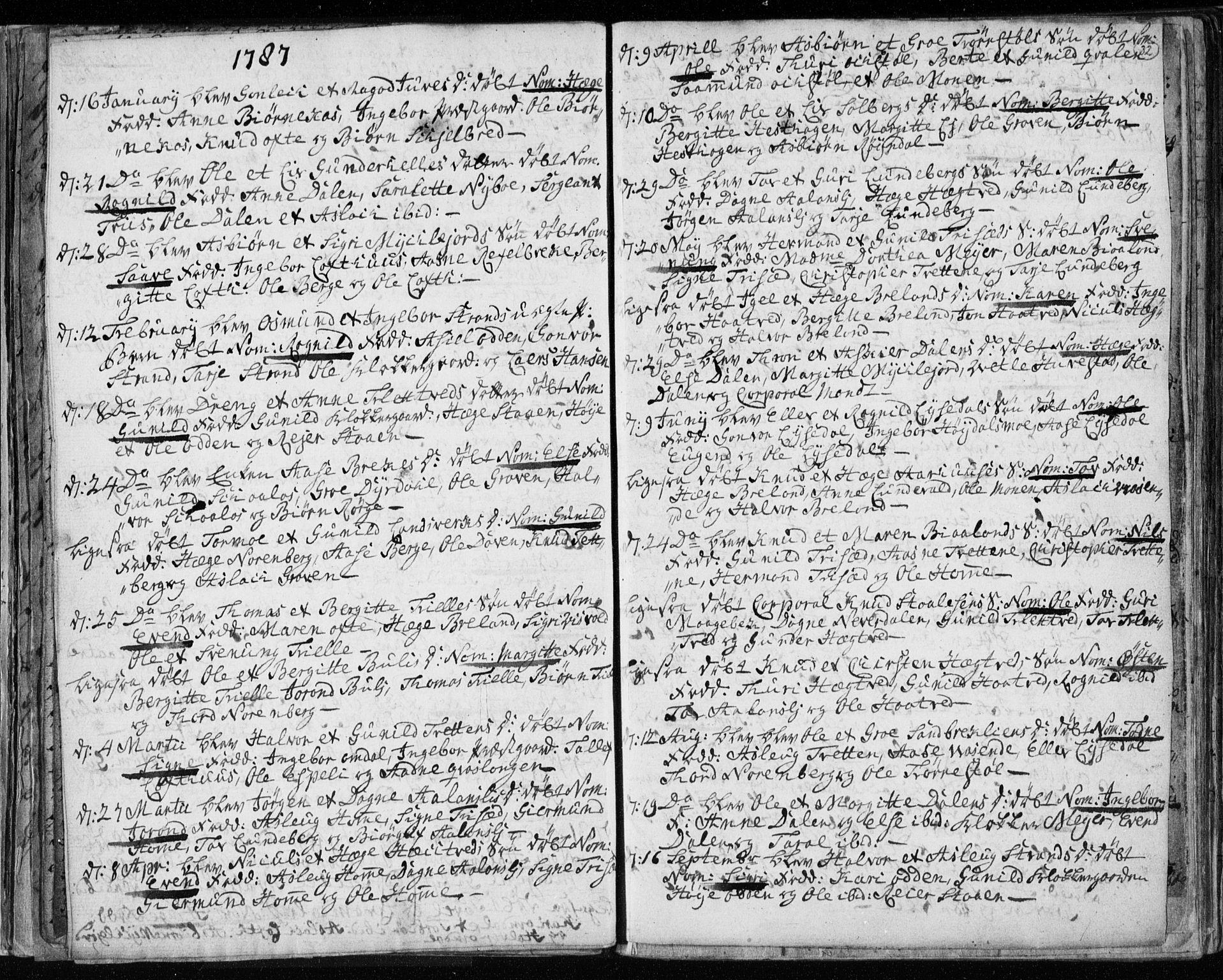 SAKO, Lårdal kirkebøker, F/Fa/L0003: Ministerialbok nr. I 3, 1754-1790, s. 32