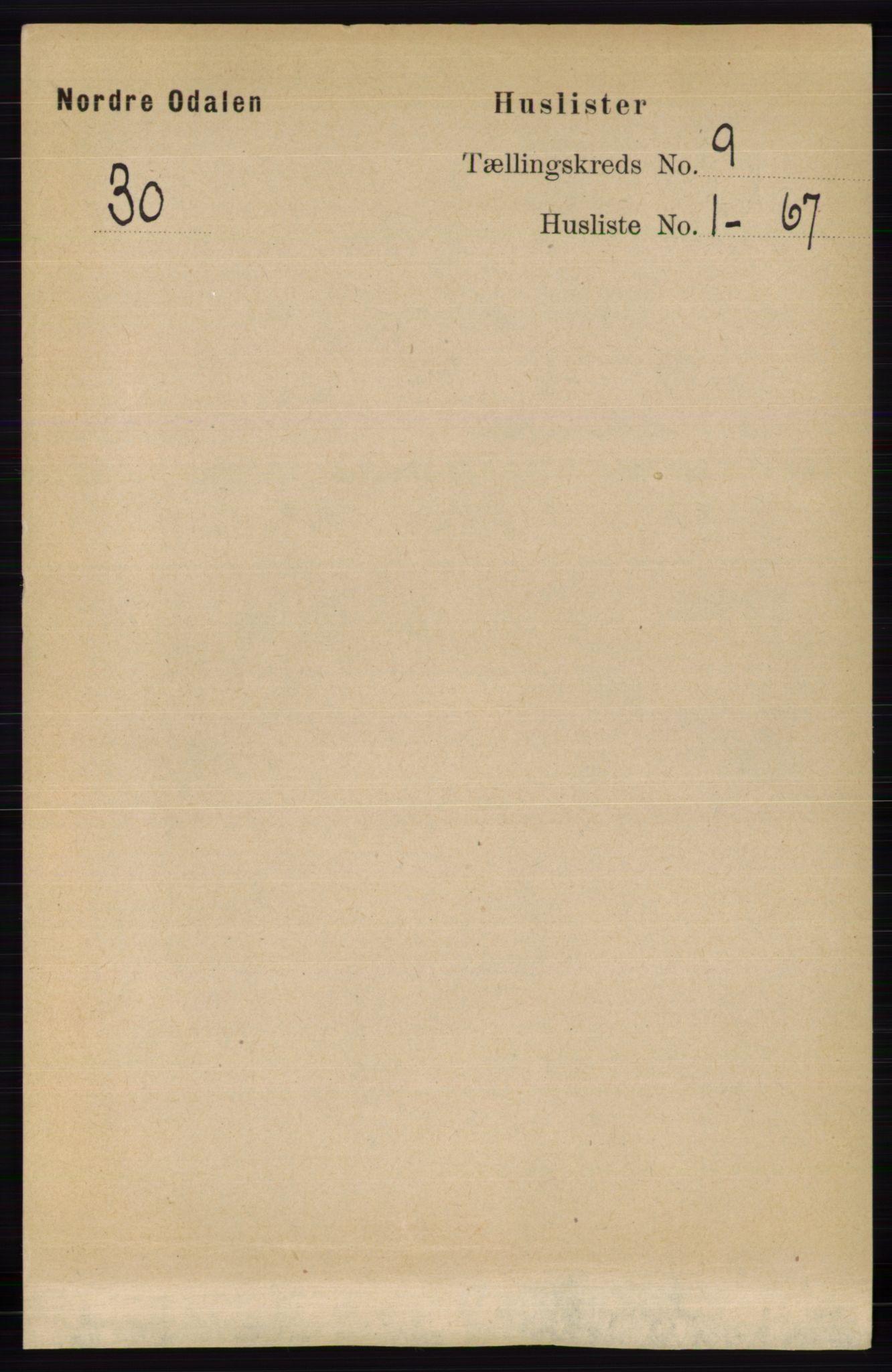 RA, Folketelling 1891 for 0418 Nord-Odal herred, 1891, s. 3934
