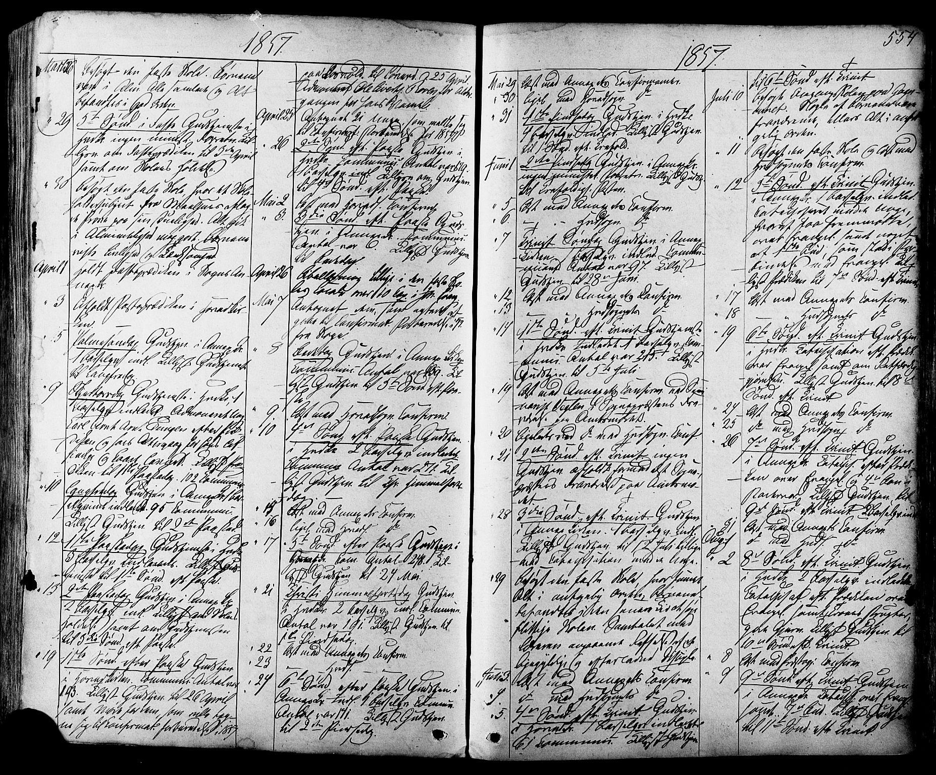 SAT, Ministerialprotokoller, klokkerbøker og fødselsregistre - Sør-Trøndelag, 665/L0772: Ministerialbok nr. 665A07, 1856-1878, s. 554