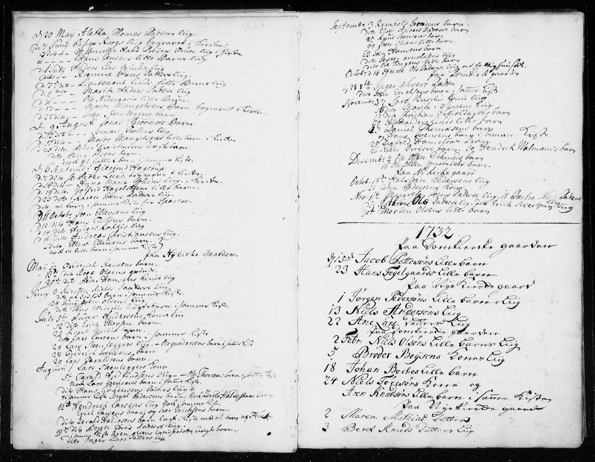SAT, Ministerialprotokoller, klokkerbøker og fødselsregistre - Sør-Trøndelag, 601/L0037: Ministerialbok nr. 601A05, 1729-1761, s. 4