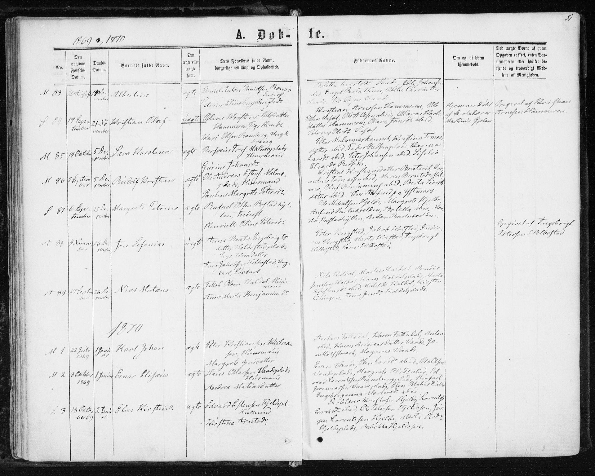 SAT, Ministerialprotokoller, klokkerbøker og fødselsregistre - Nord-Trøndelag, 741/L0394: Ministerialbok nr. 741A08, 1864-1877, s. 51