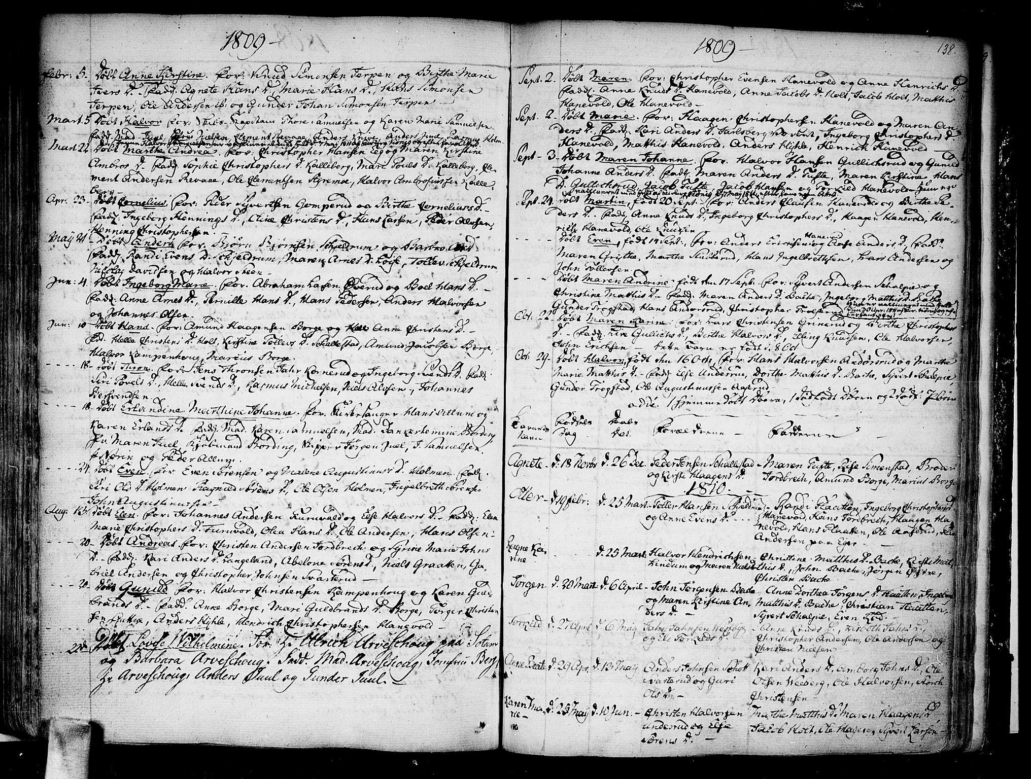 SAKO, Skoger kirkebøker, F/Fa/L0001: Ministerialbok nr. I 1, 1746-1814, s. 138