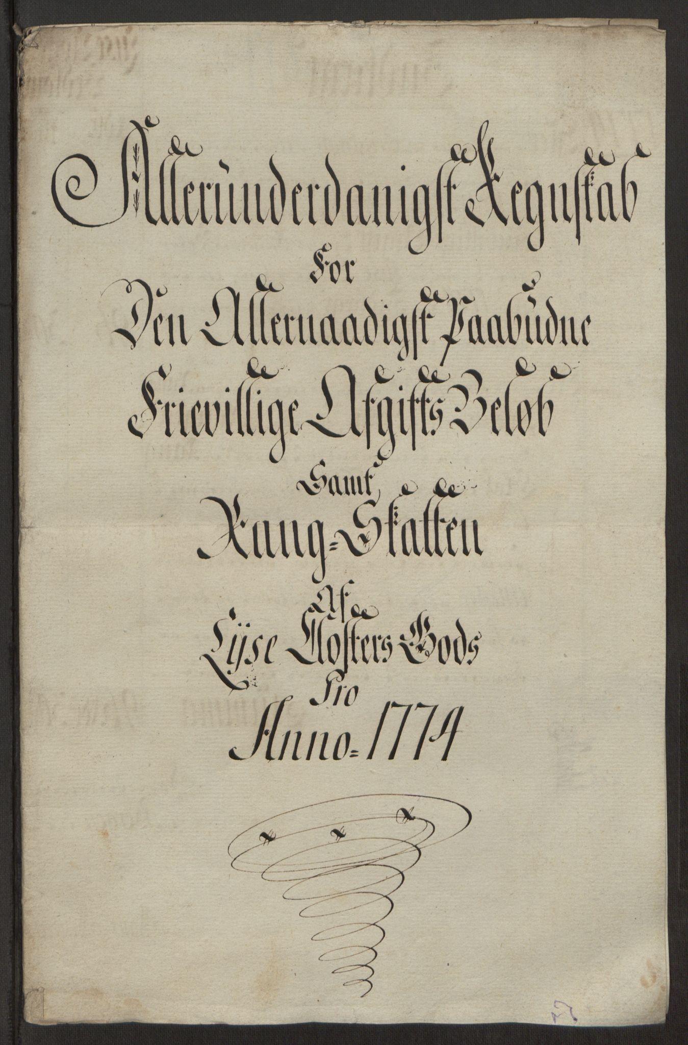 RA, Rentekammeret inntil 1814, Reviderte regnskaper, Fogderegnskap, R50/L3180: Ekstraskatten Lyse kloster, 1762-1783, s. 346