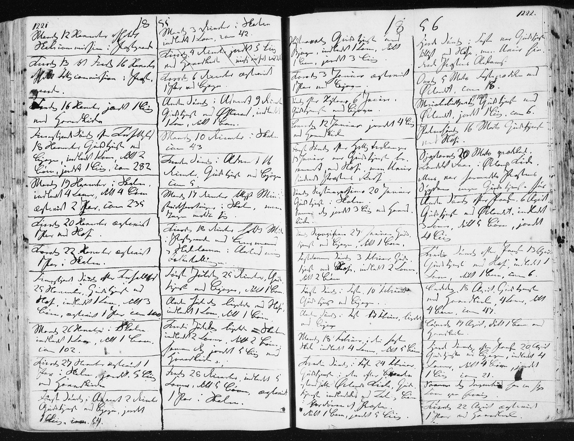 SAT, Ministerialprotokoller, klokkerbøker og fødselsregistre - Sør-Trøndelag, 659/L0736: Ministerialbok nr. 659A06, 1842-1856, s. 1221-1222