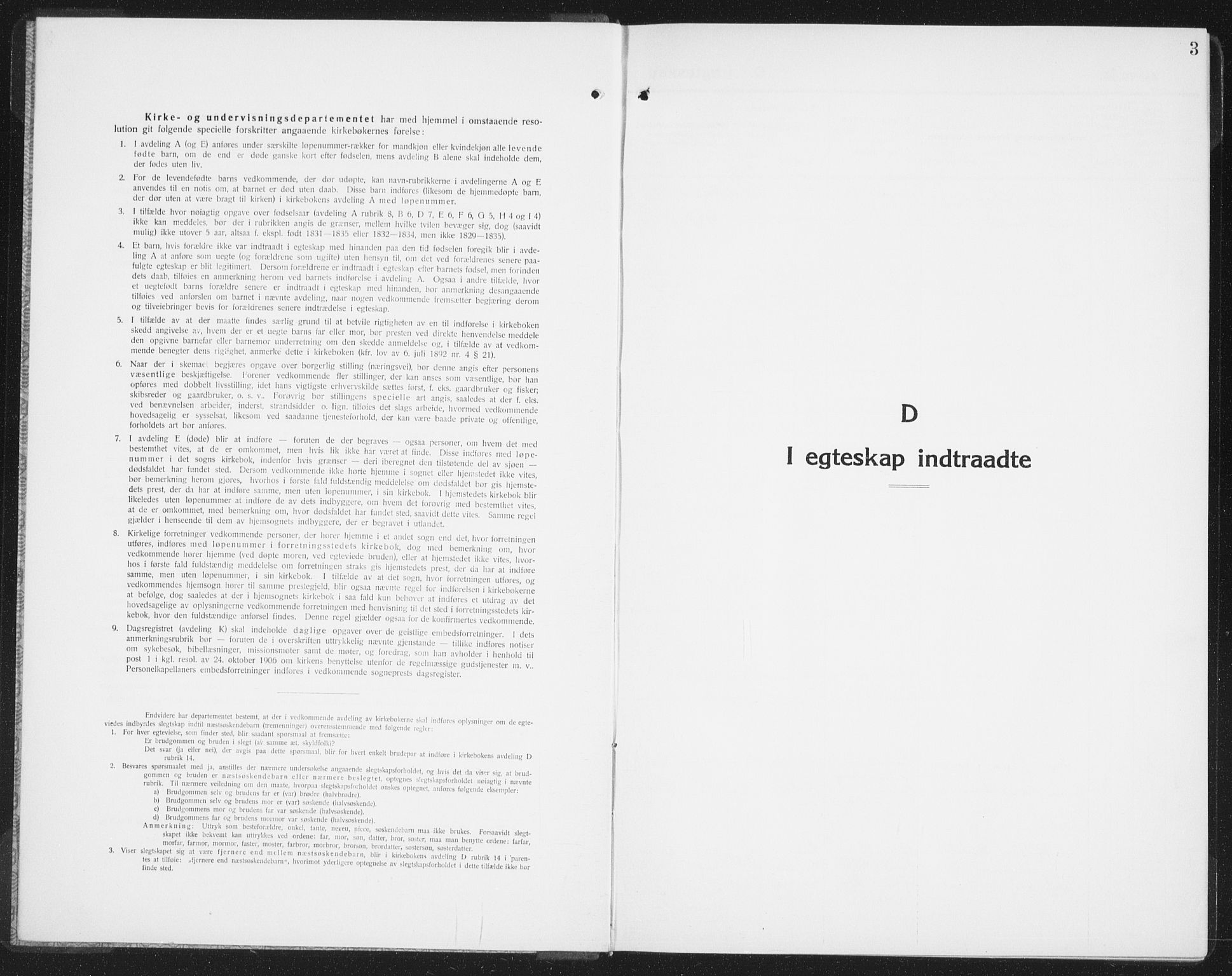 SAO, Halden prestekontor Kirkebøker, G/Ga/L0014: Klokkerbok nr. 14, 1925-1943, s. 3