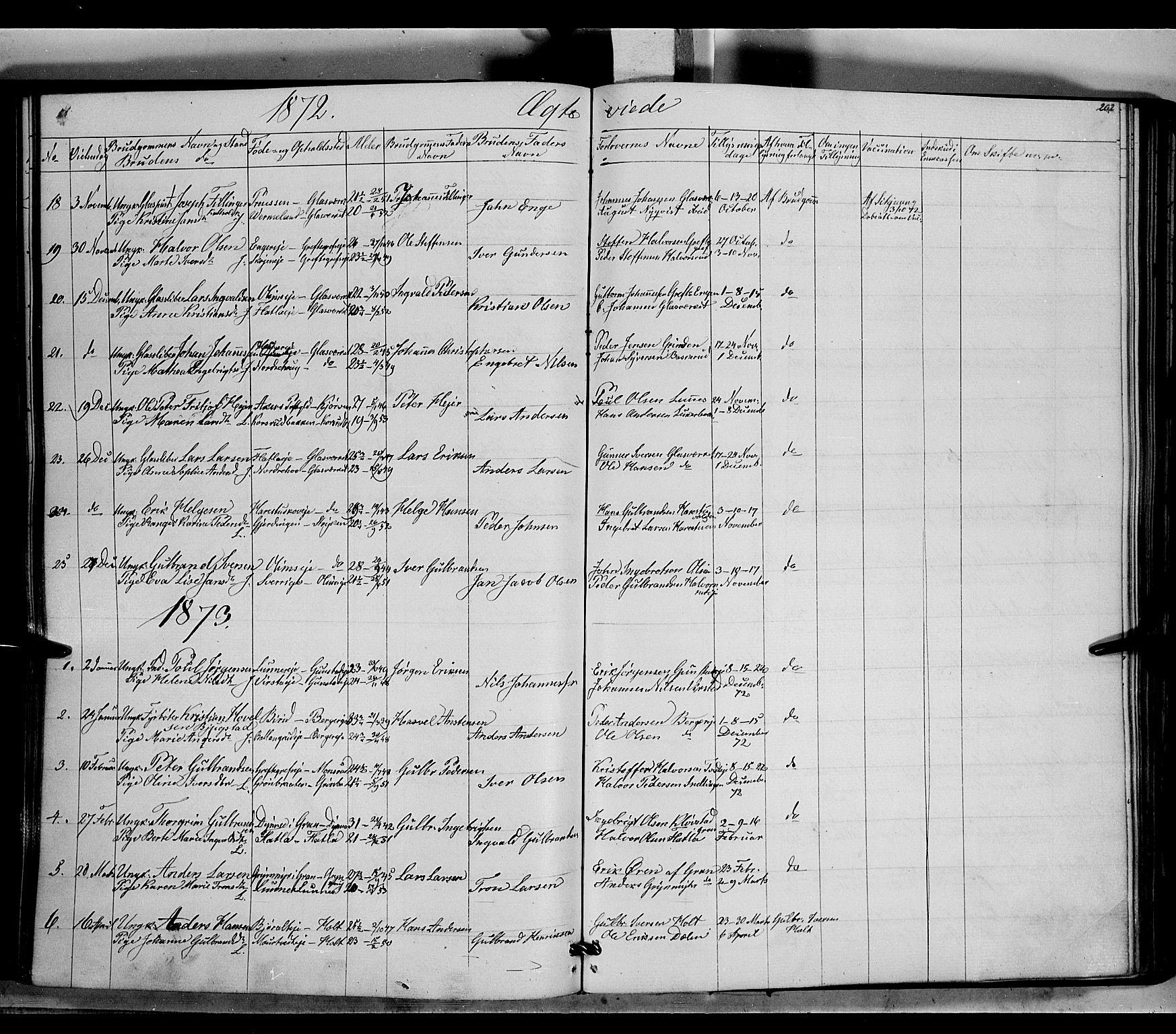 SAH, Jevnaker prestekontor, Ministerialbok nr. 7, 1858-1876, s. 202