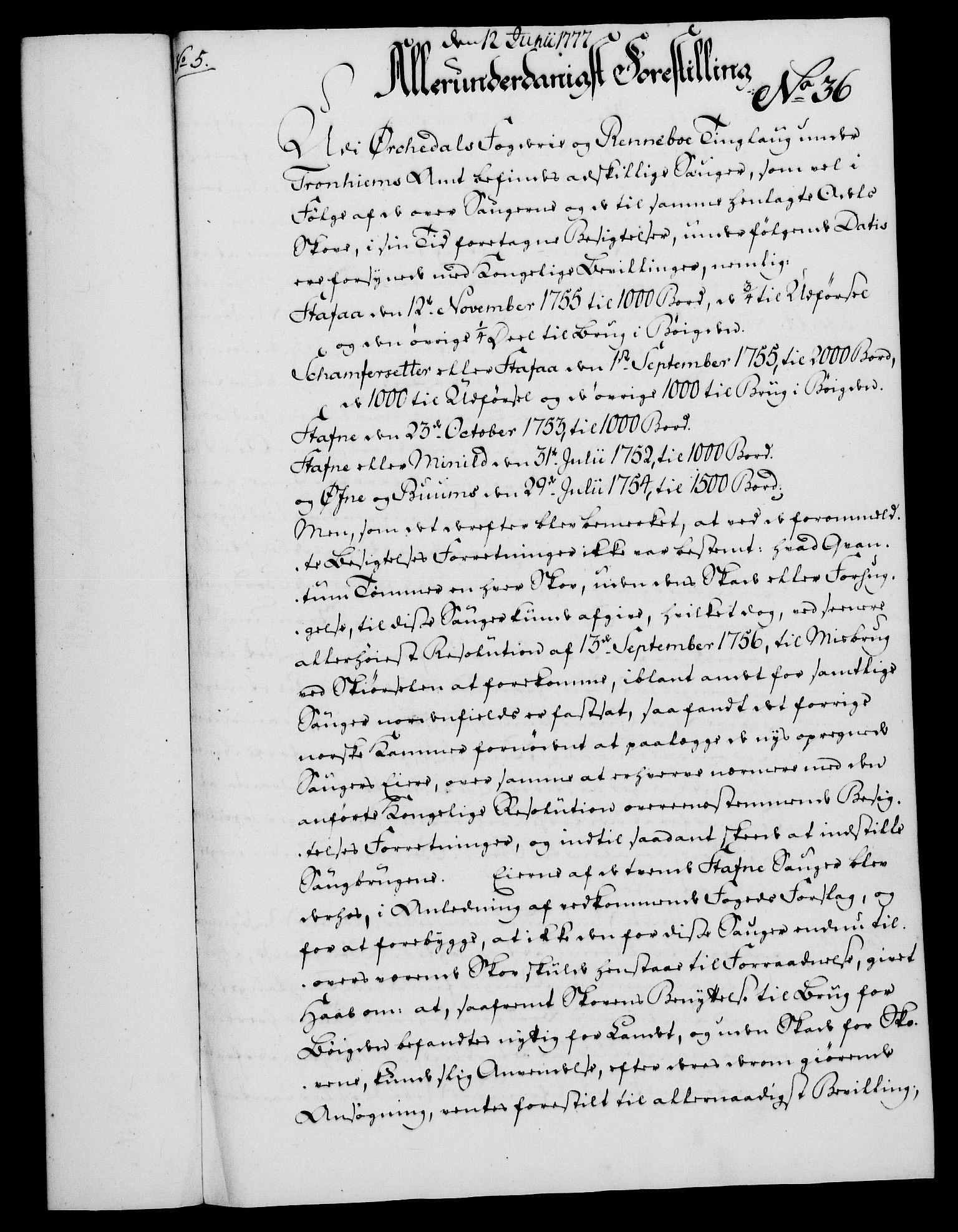 RA, Rentekammeret, Kammerkanselliet, G/Gf/Gfa/L0059: Norsk relasjons- og resolusjonsprotokoll (merket RK 52.59), 1777, s. 189