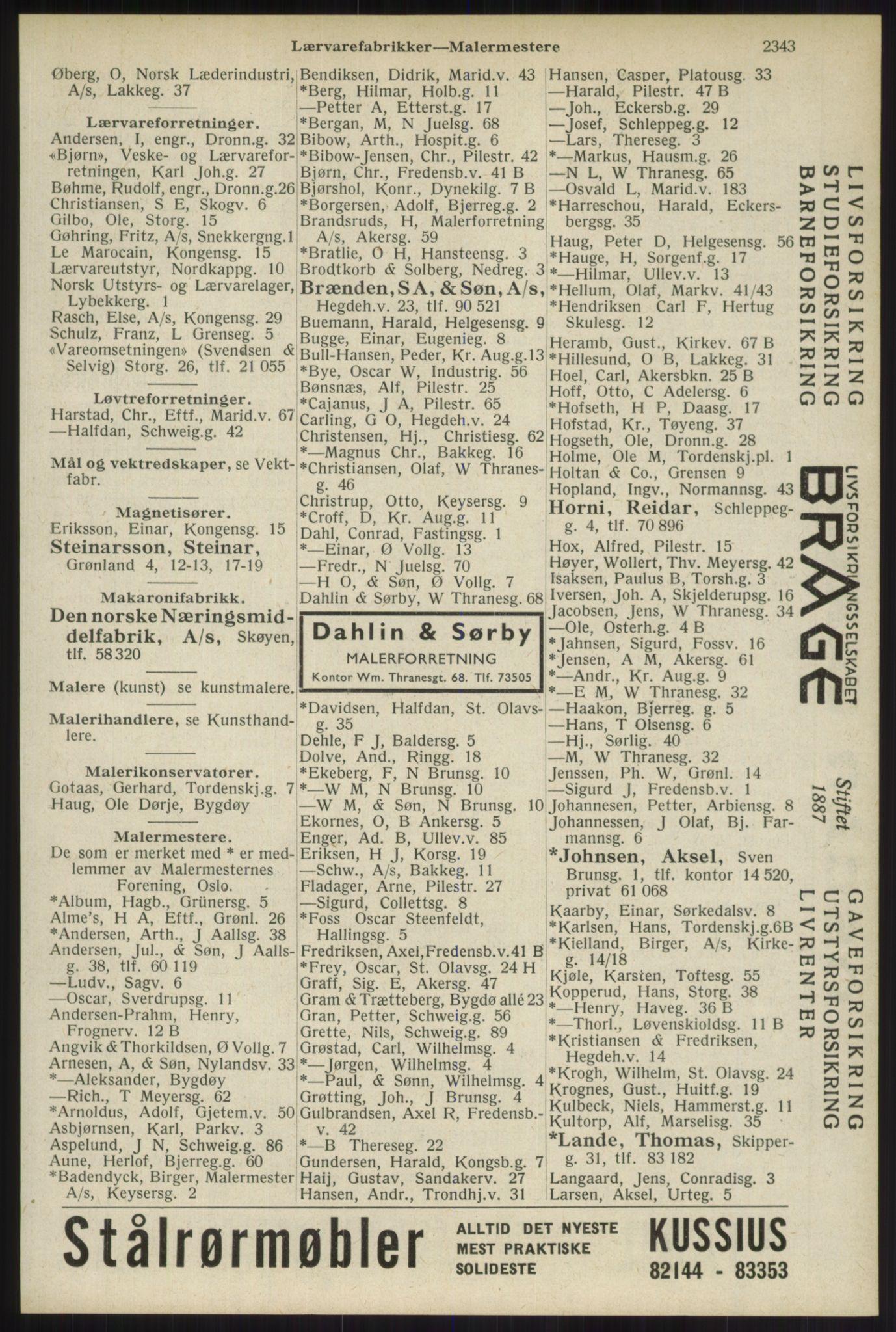 RA, Oslo adressebok (publikasjon)*, 1934, s. 2343