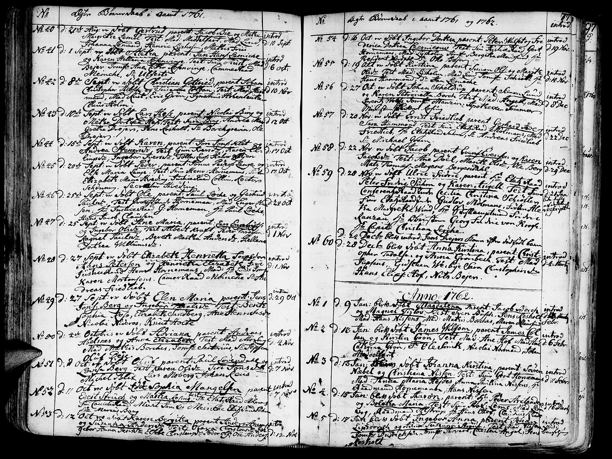 SAT, Ministerialprotokoller, klokkerbøker og fødselsregistre - Sør-Trøndelag, 602/L0103: Ministerialbok nr. 602A01, 1732-1774, s. 77