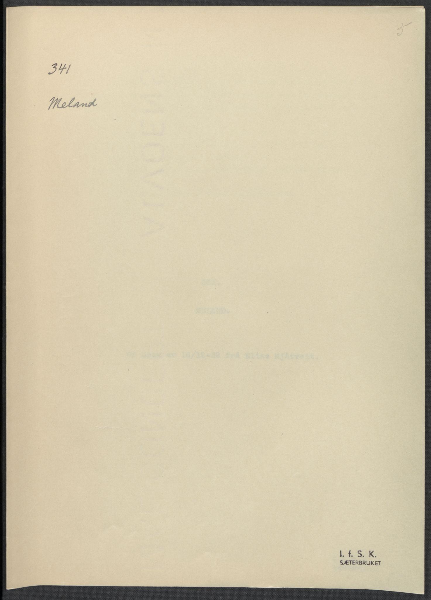 RA, Instituttet for sammenlignende kulturforskning, F/Fc/L0010: Eske B10:, 1932-1935, s. 5