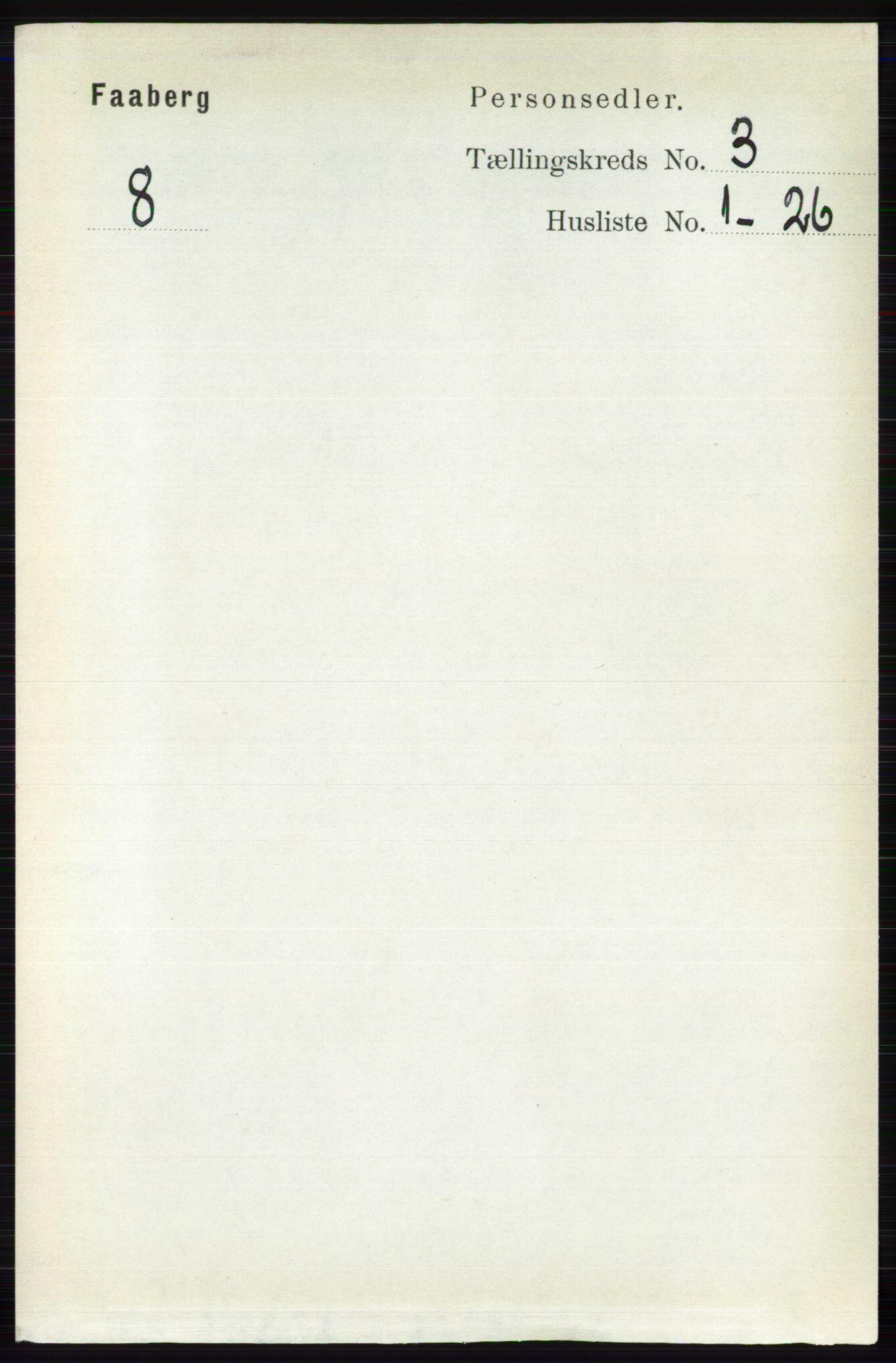 RA, Folketelling 1891 for 0524 Fåberg herred, 1891, s. 860