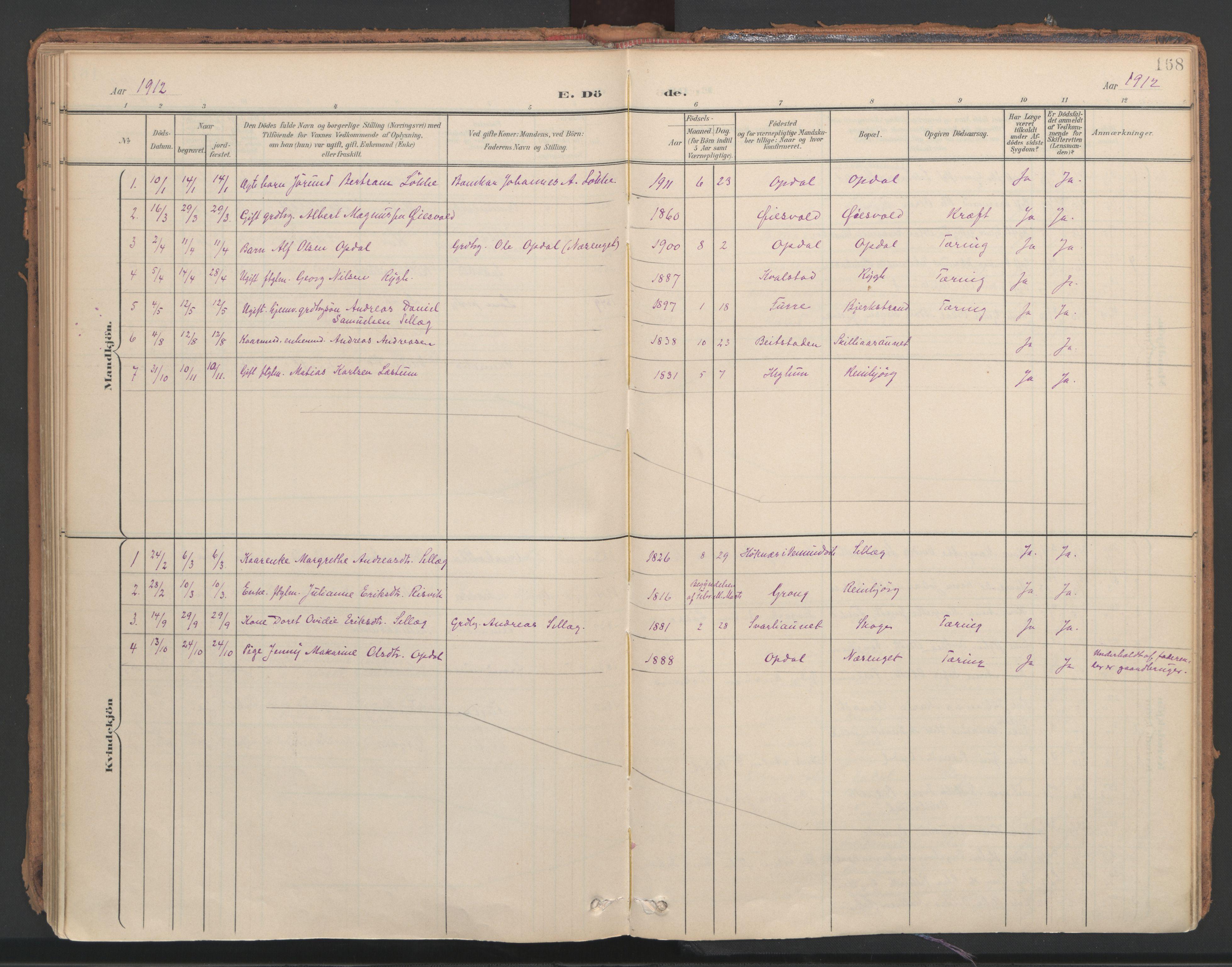 SAT, Ministerialprotokoller, klokkerbøker og fødselsregistre - Nord-Trøndelag, 766/L0564: Ministerialbok nr. 767A02, 1900-1932, s. 168