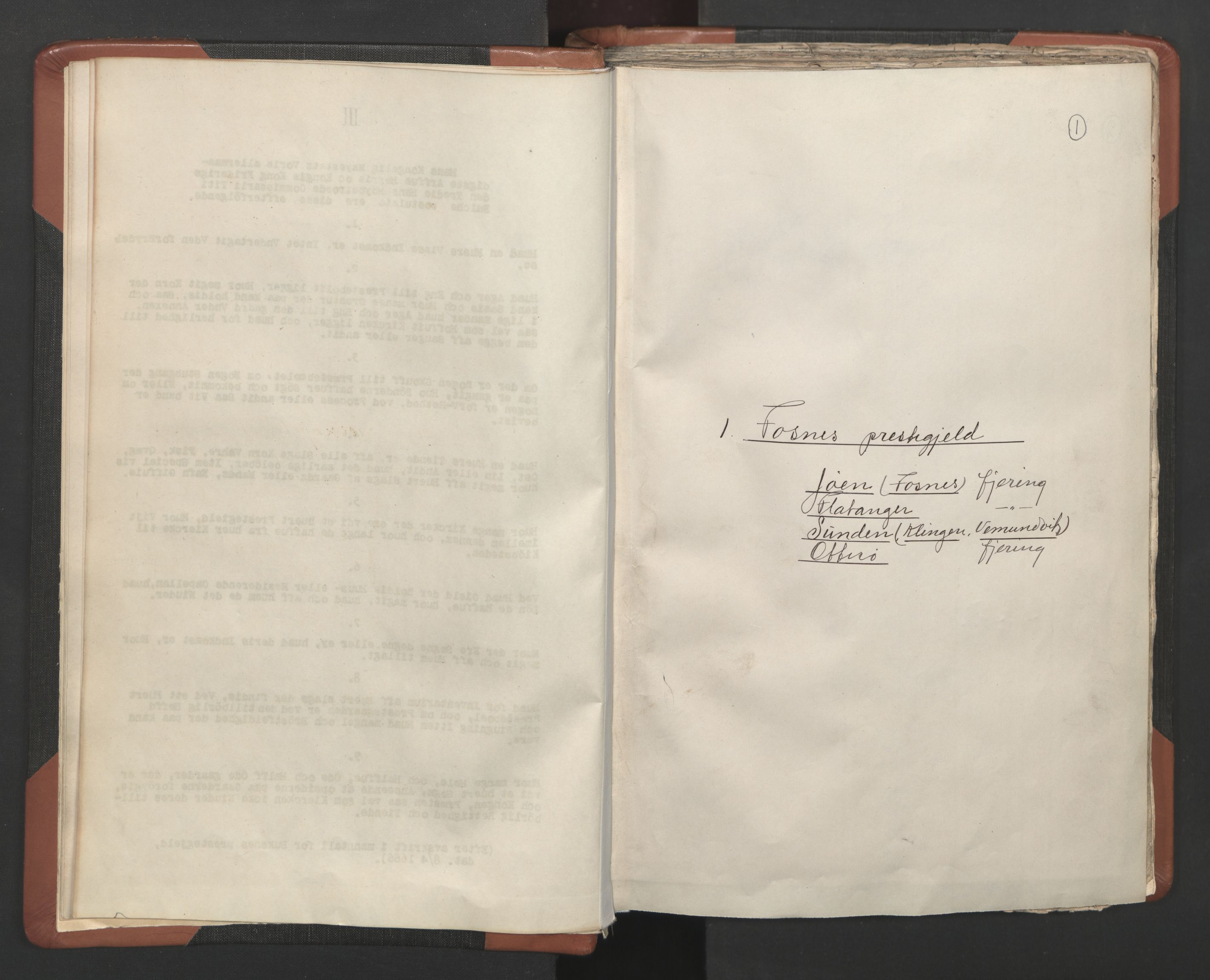 RA, Sogneprestenes manntall 1664-1666, nr. 34: Namdal prosti, 1664-1666, s. 1