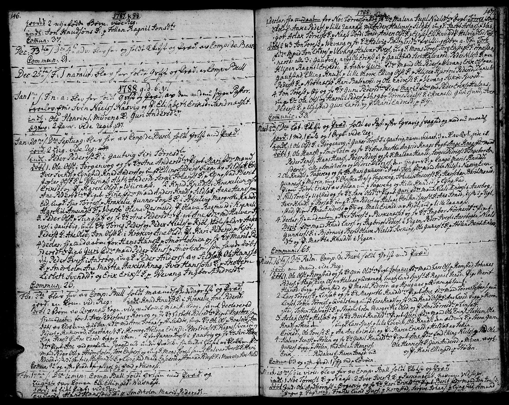 SAT, Ministerialprotokoller, klokkerbøker og fødselsregistre - Møre og Romsdal, 570/L0829: Ministerialbok nr. 570A03, 1769-1788, s. 146-147