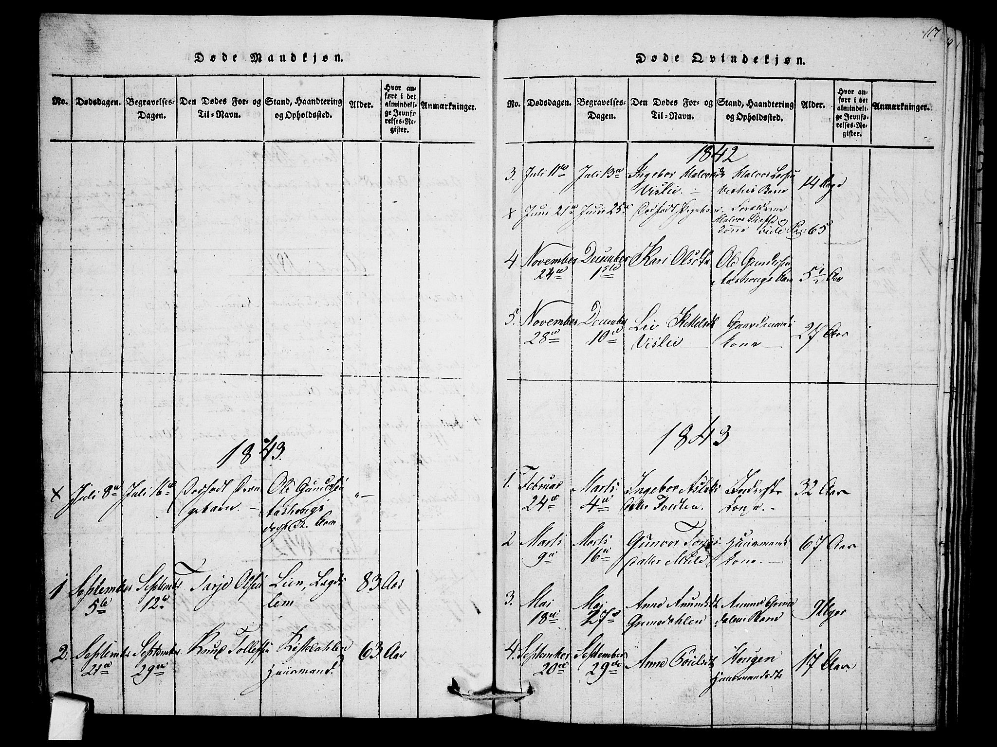 SAKO, Mo kirkebøker, F/Fb/L0001: Ministerialbok nr. II 1, 1814-1844, s. 117