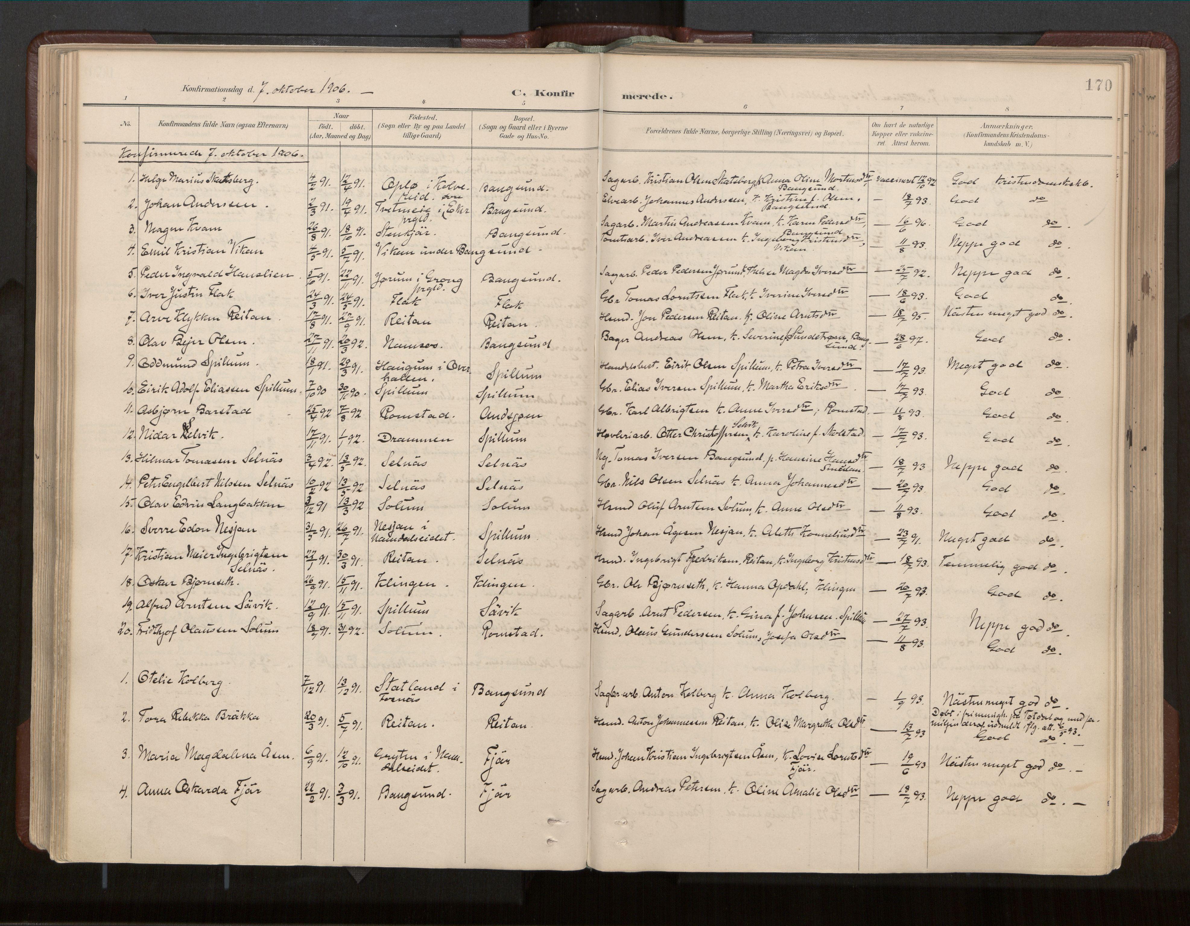 SAT, Ministerialprotokoller, klokkerbøker og fødselsregistre - Nord-Trøndelag, 770/L0589: Ministerialbok nr. 770A03, 1887-1929, s. 170