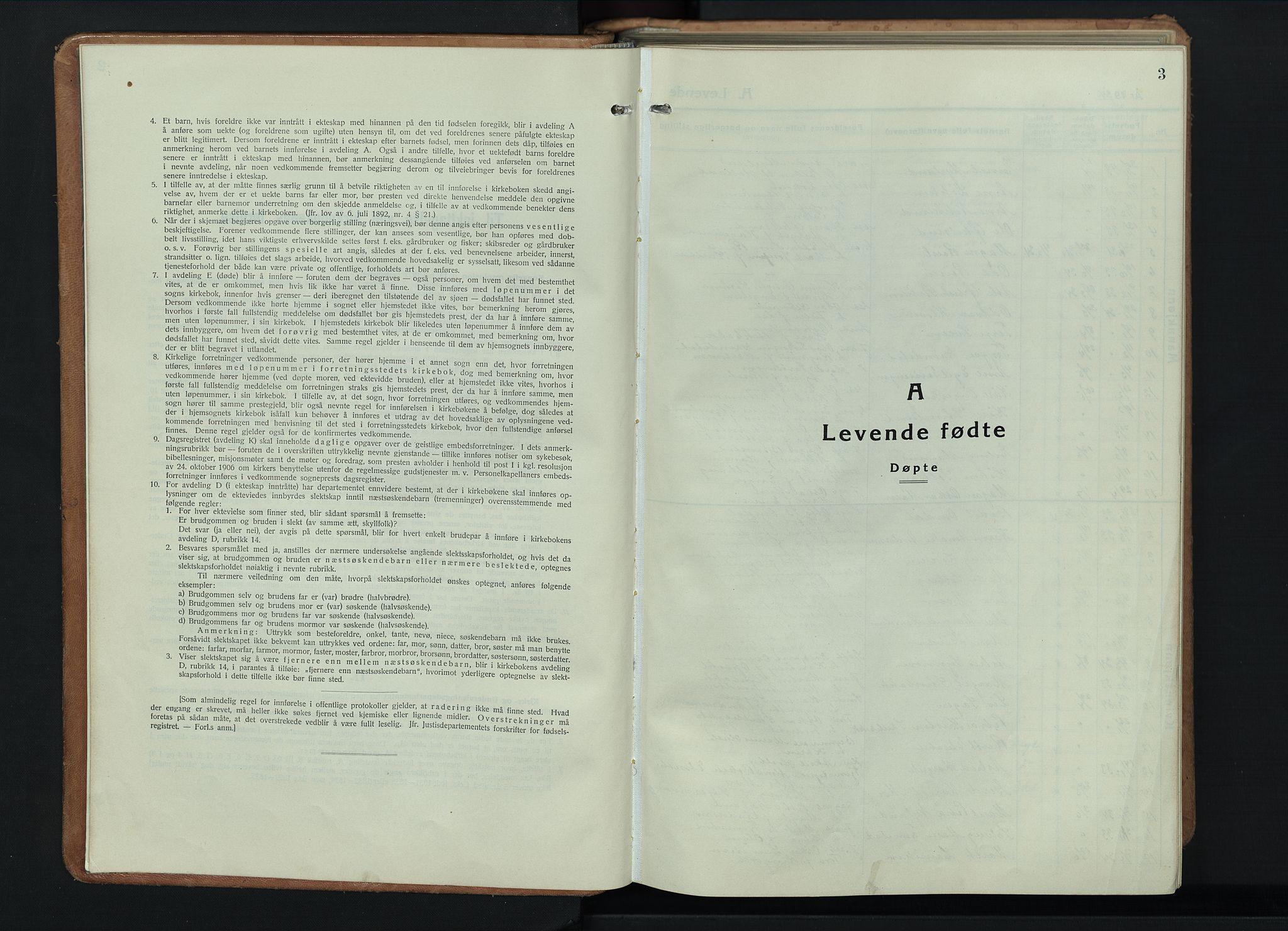 SAH, Østre Toten prestekontor, Klokkerbok nr. 11, 1934-1952, s. 3