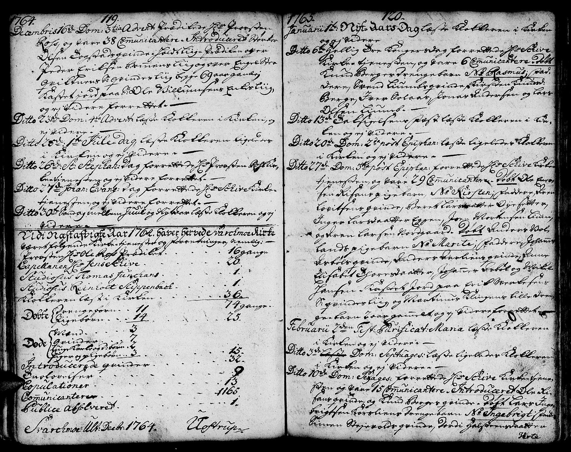 SAT, Ministerialprotokoller, klokkerbøker og fødselsregistre - Sør-Trøndelag, 671/L0840: Ministerialbok nr. 671A02, 1756-1794, s. 119-120