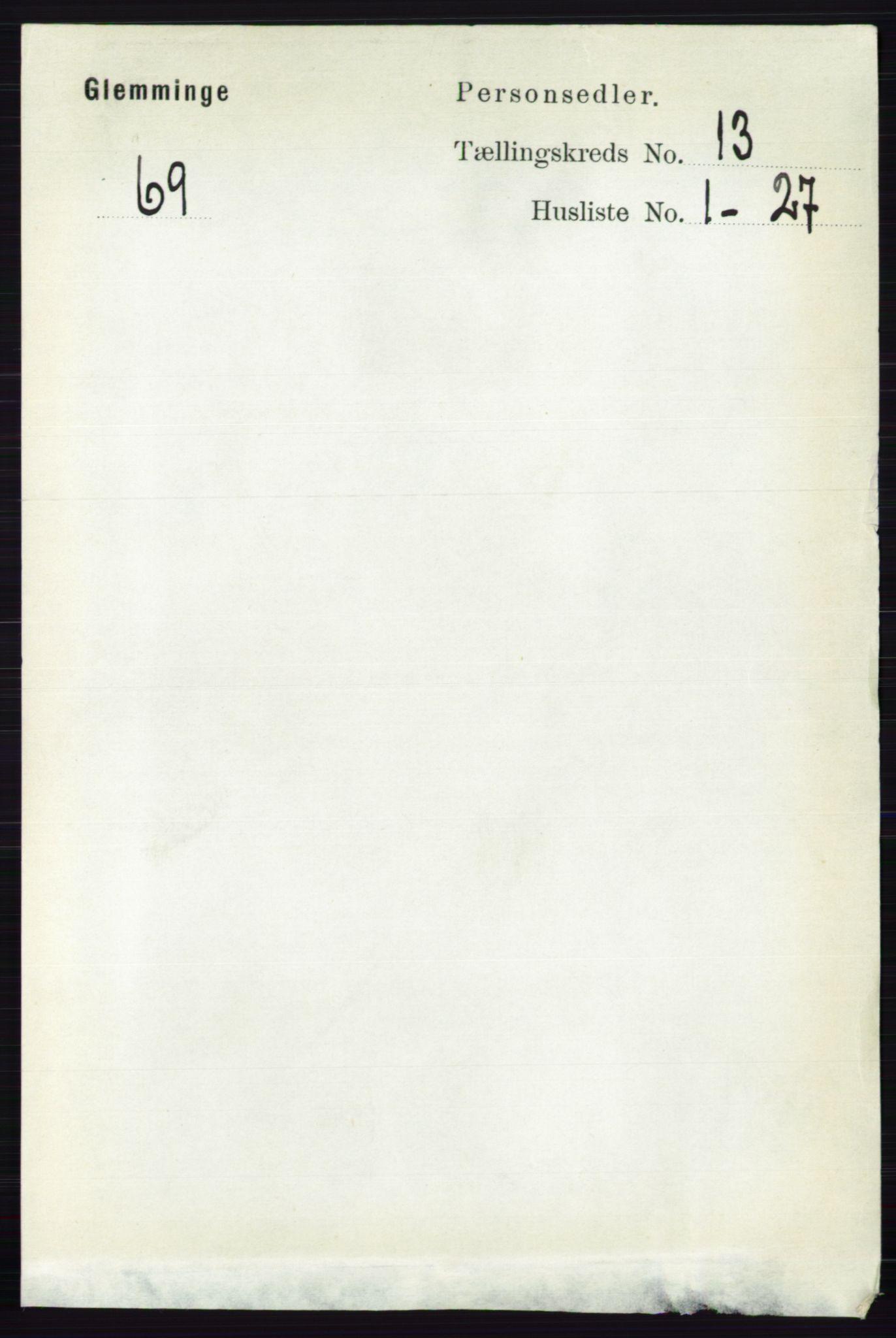 RA, Folketelling 1891 for 0132 Glemmen herred, 1891, s. 11164