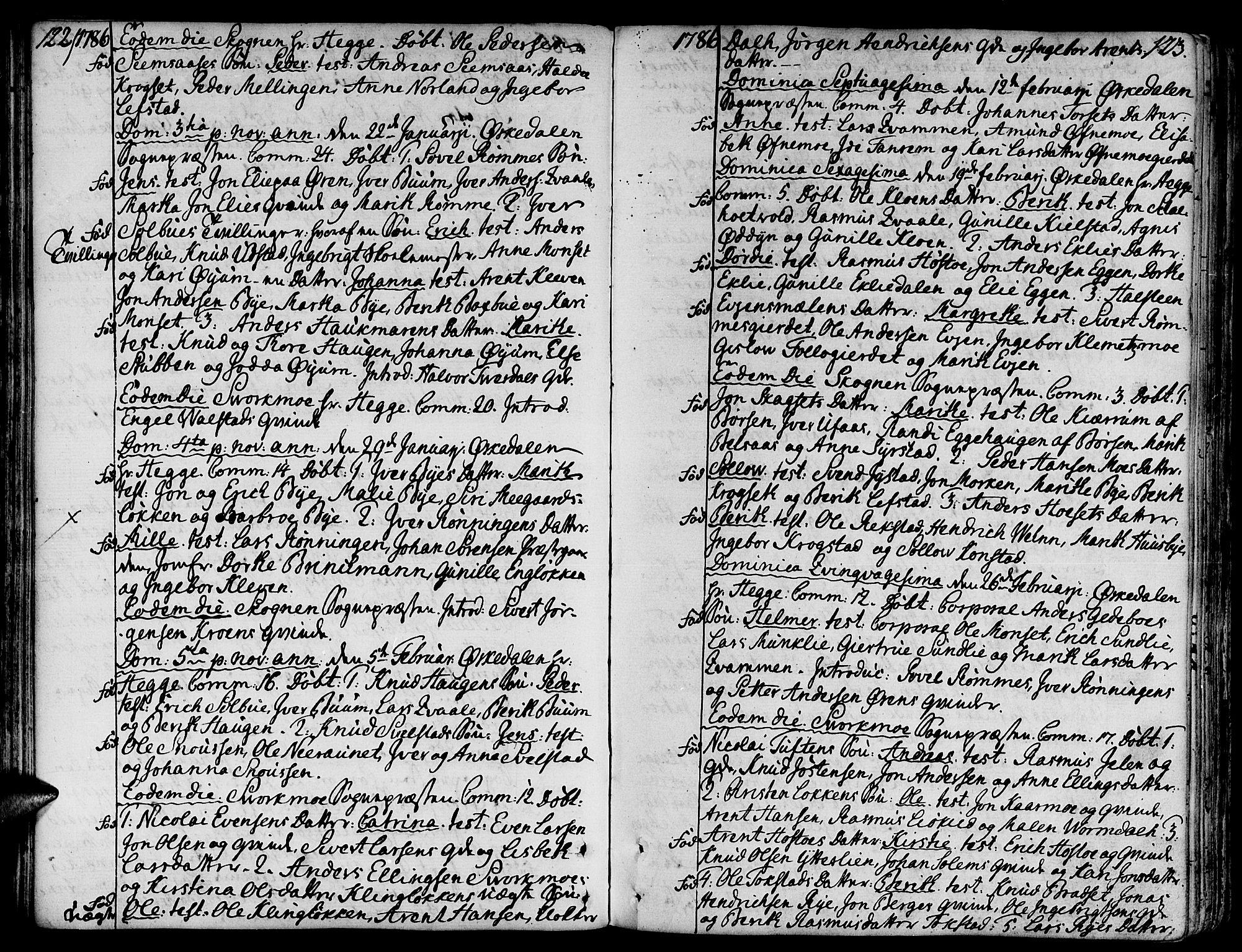 SAT, Ministerialprotokoller, klokkerbøker og fødselsregistre - Sør-Trøndelag, 668/L0802: Ministerialbok nr. 668A02, 1776-1799, s. 122-123