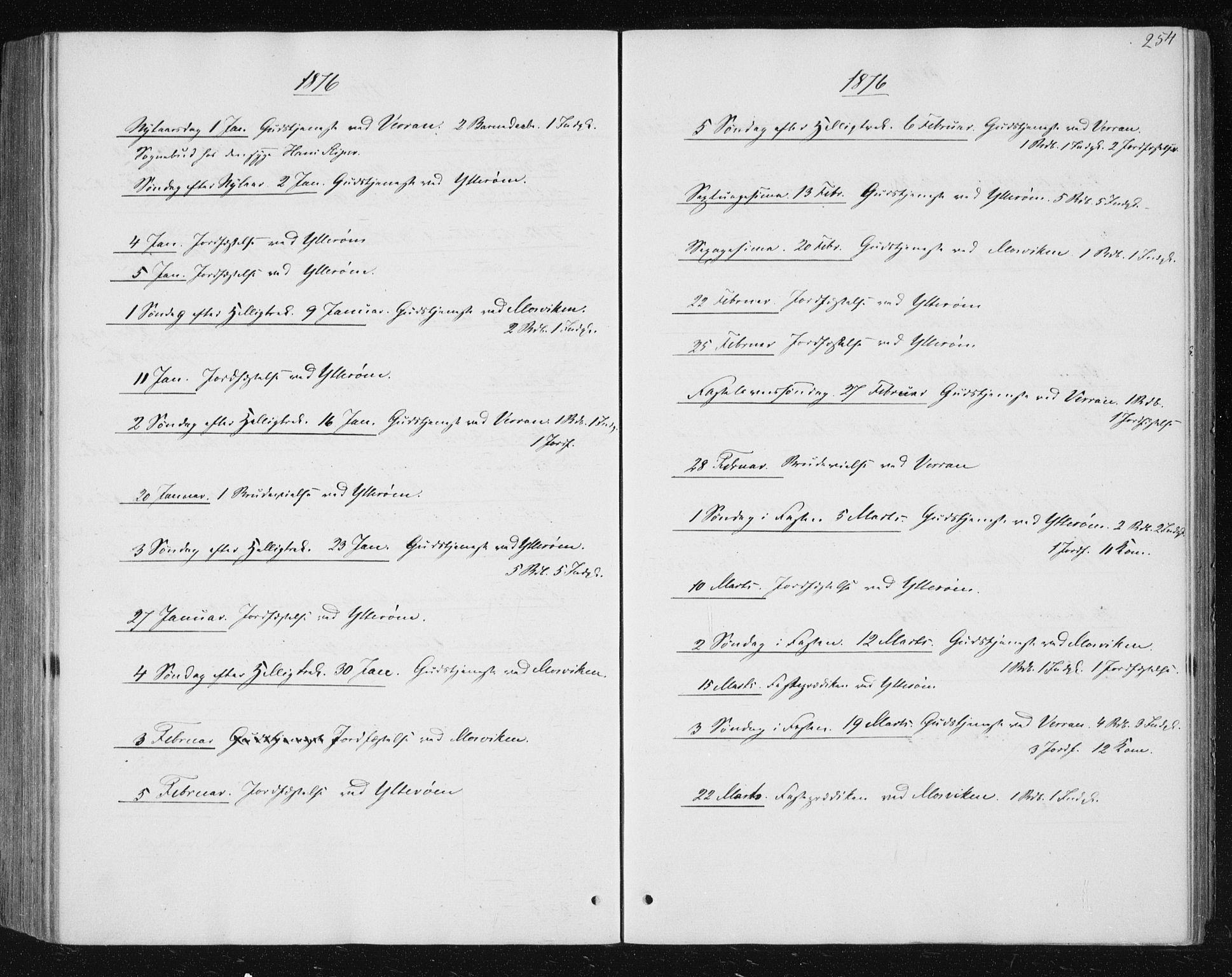SAT, Ministerialprotokoller, klokkerbøker og fødselsregistre - Nord-Trøndelag, 722/L0219: Ministerialbok nr. 722A06, 1868-1880, s. 254