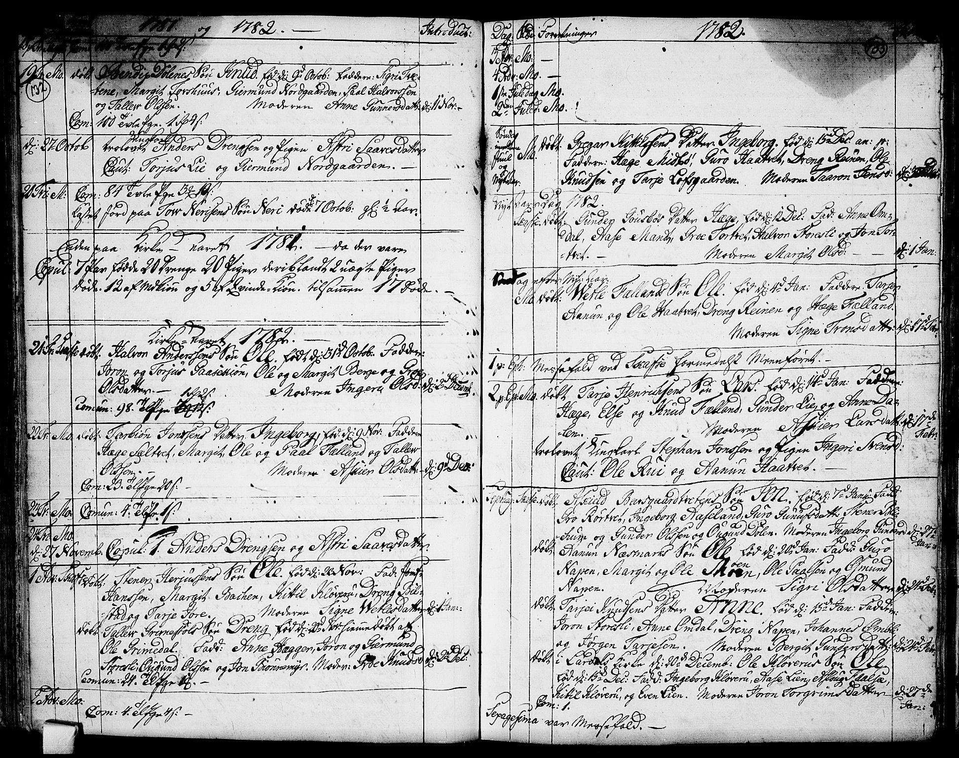 SAKO, Mo kirkebøker, F/Fa/L0002: Ministerialbok nr. I 2, 1766-1799, s. 132-133