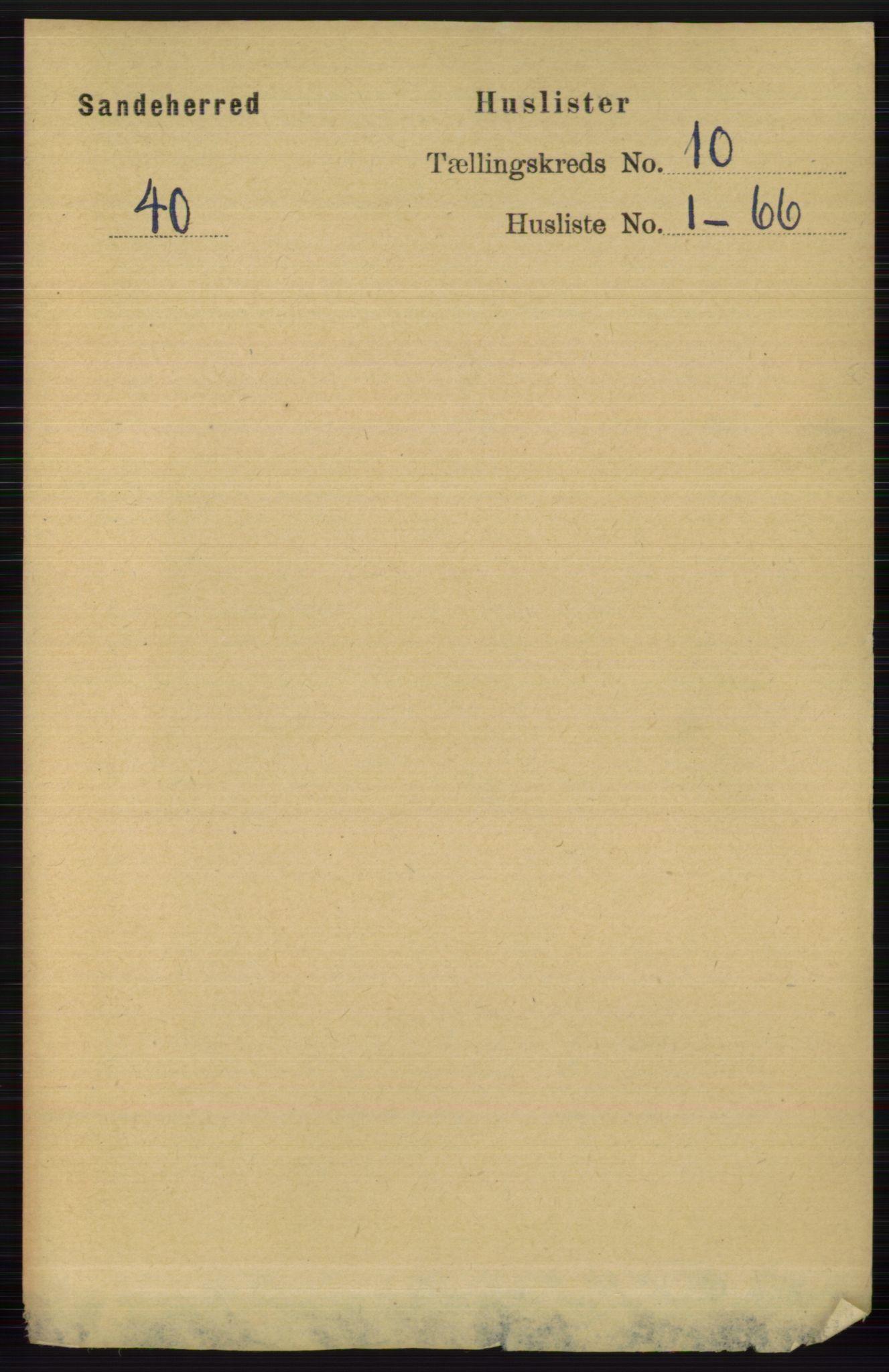 RA, Folketelling 1891 for 0724 Sandeherred herred, 1891, s. 6128