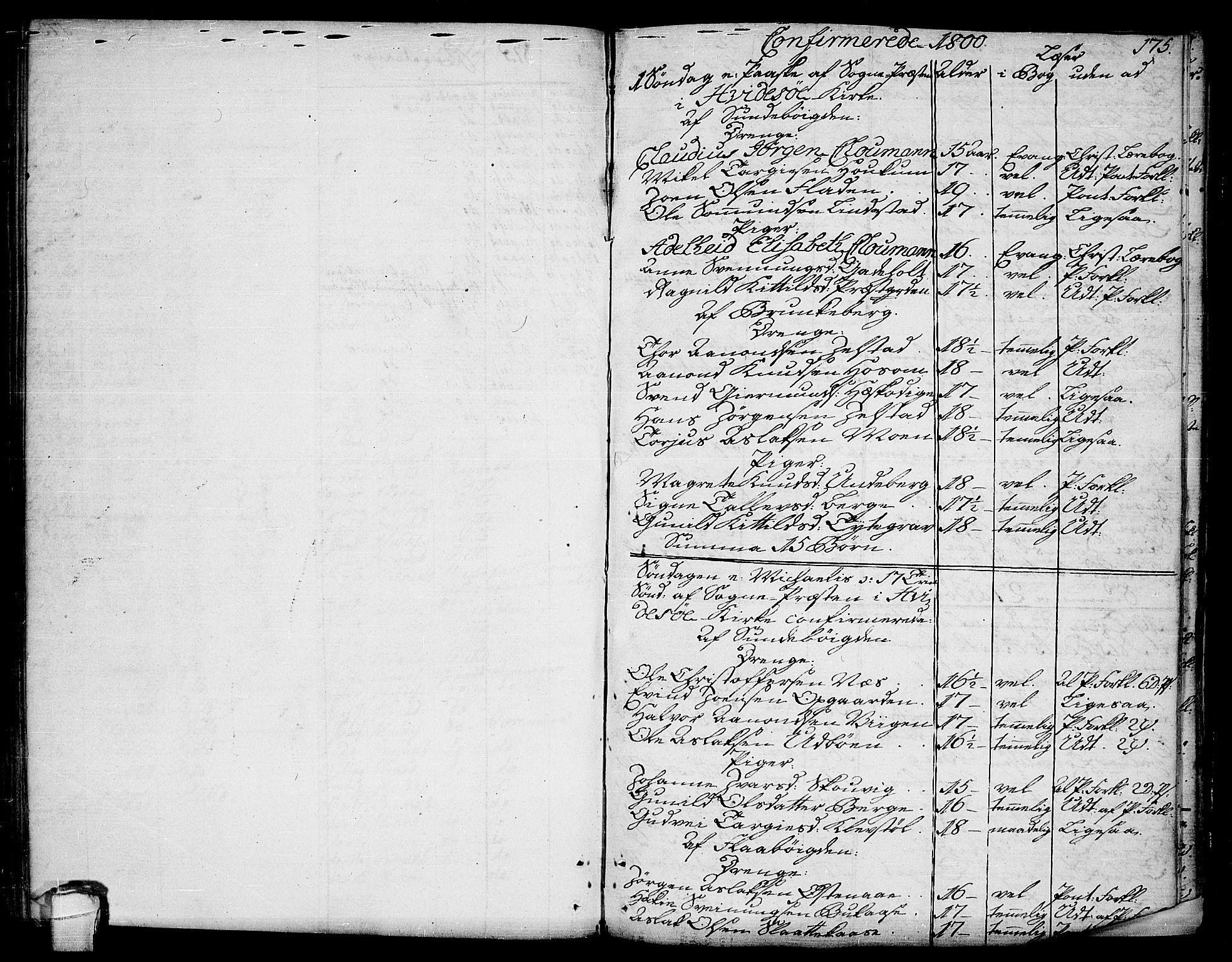 SAKO, Kviteseid kirkebøker, F/Fa/L0004: Ministerialbok nr. I 4, 1800-1814, s. 175