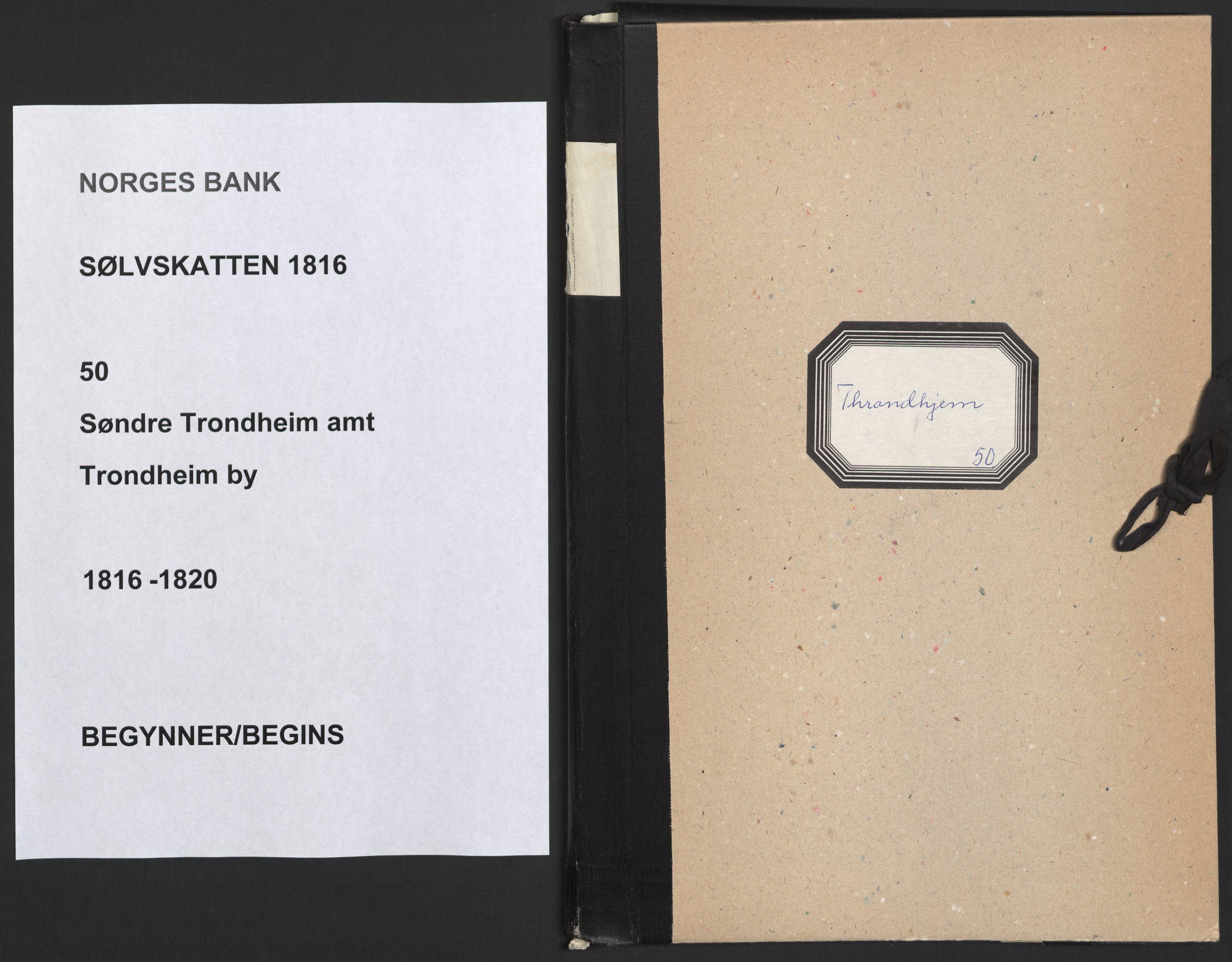 NOBA, Norges Bank/Sølvskatten 1816*, 1816-1820, s. 1